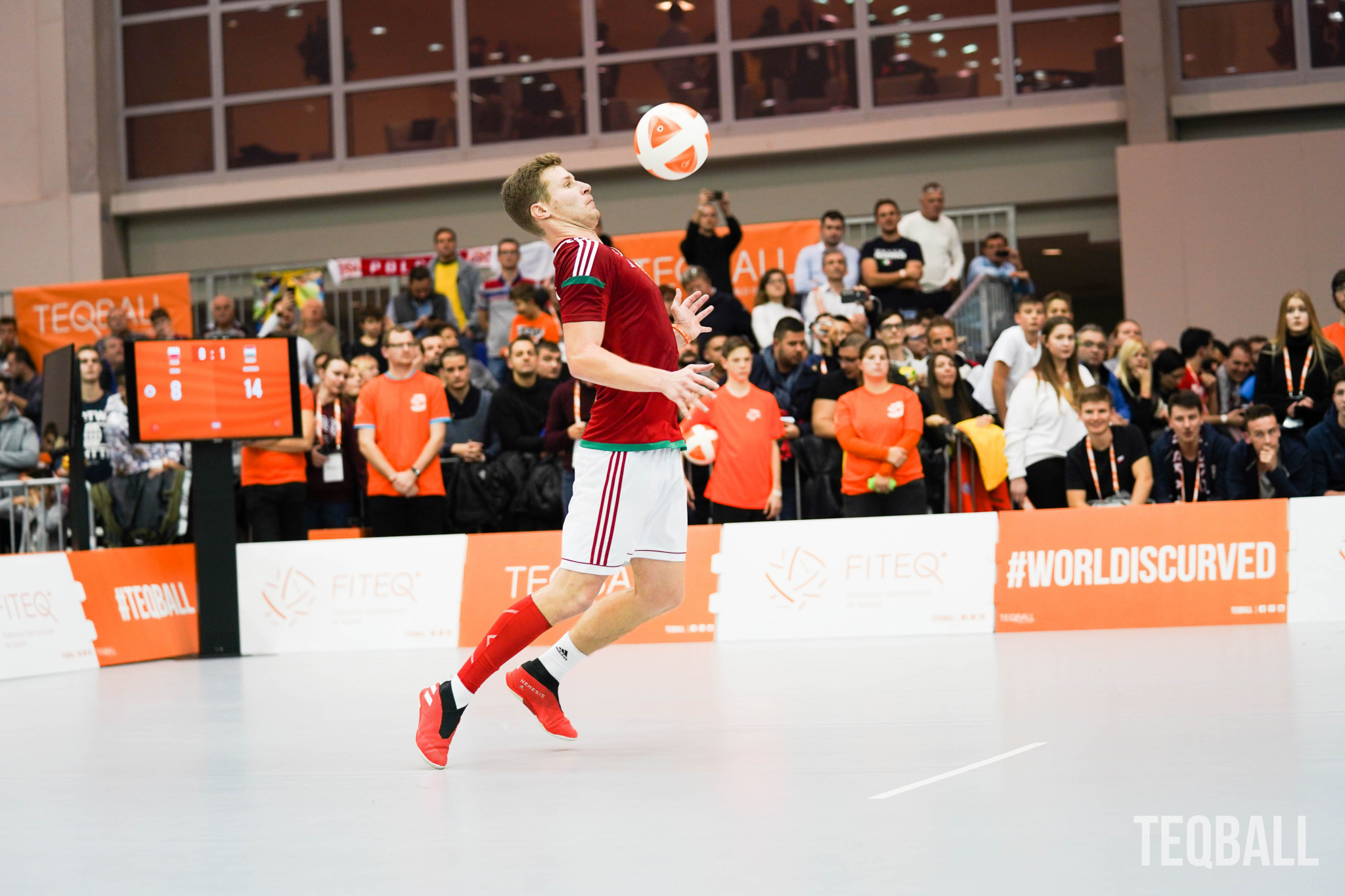 Hungarian Ádám Blázsovics is ranked the number one teqball player in the world ©FITEQ
