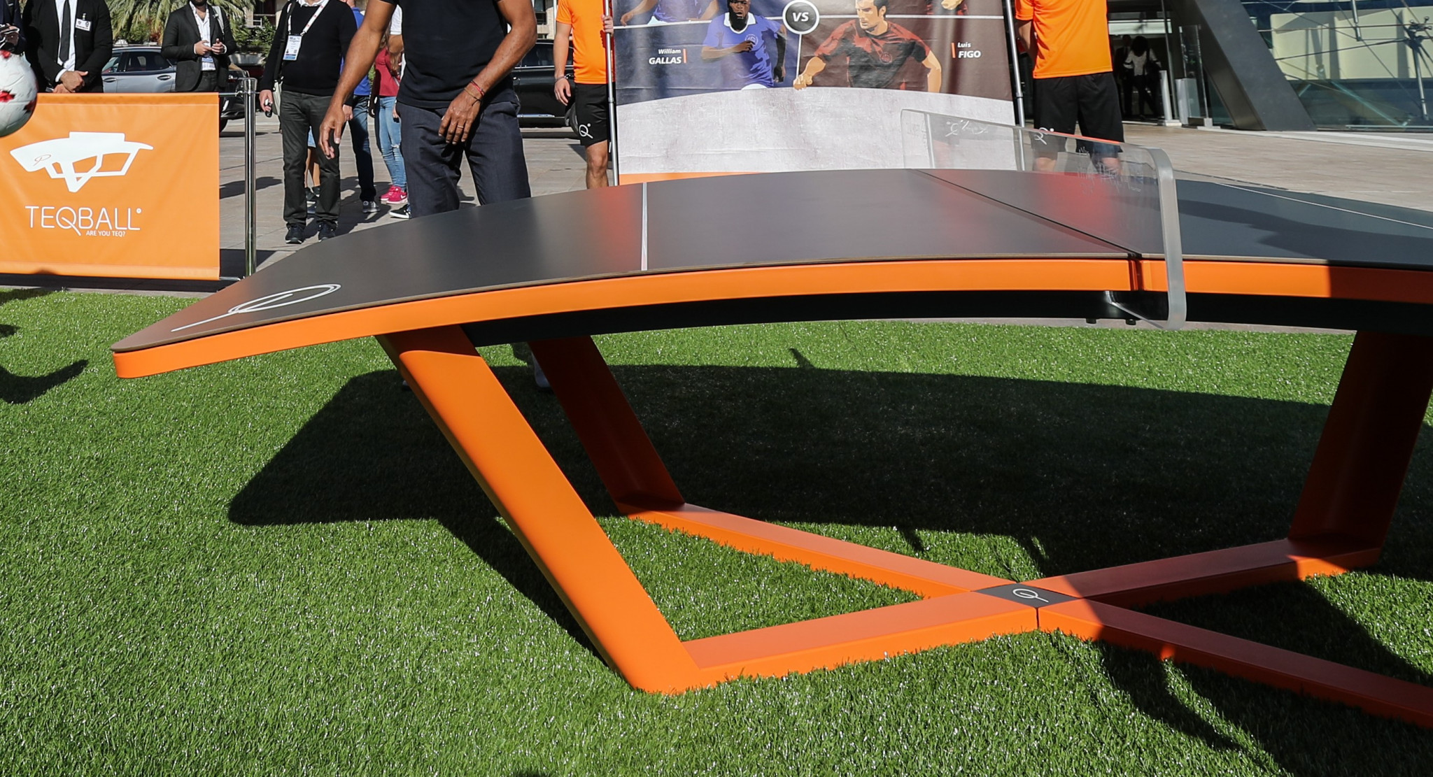Hungarian Teqball Federation donates teq tables to anti-poverty charity
