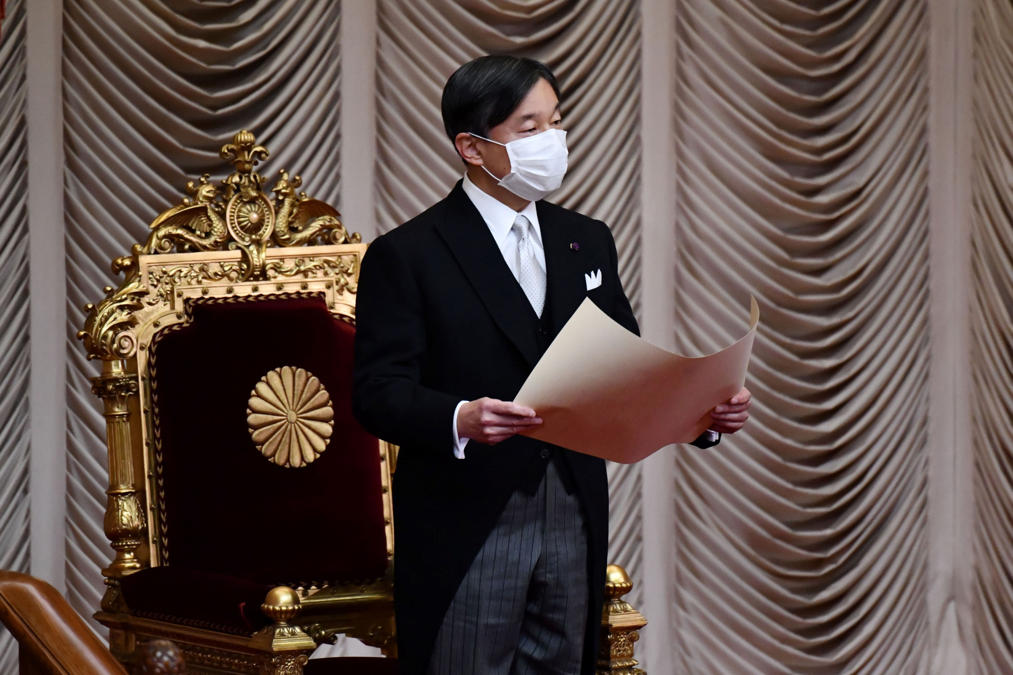 Japanese Emperor Naruhito is due to declare the Olympic Games open - 12 months after it was originally due to start ©Getty Images