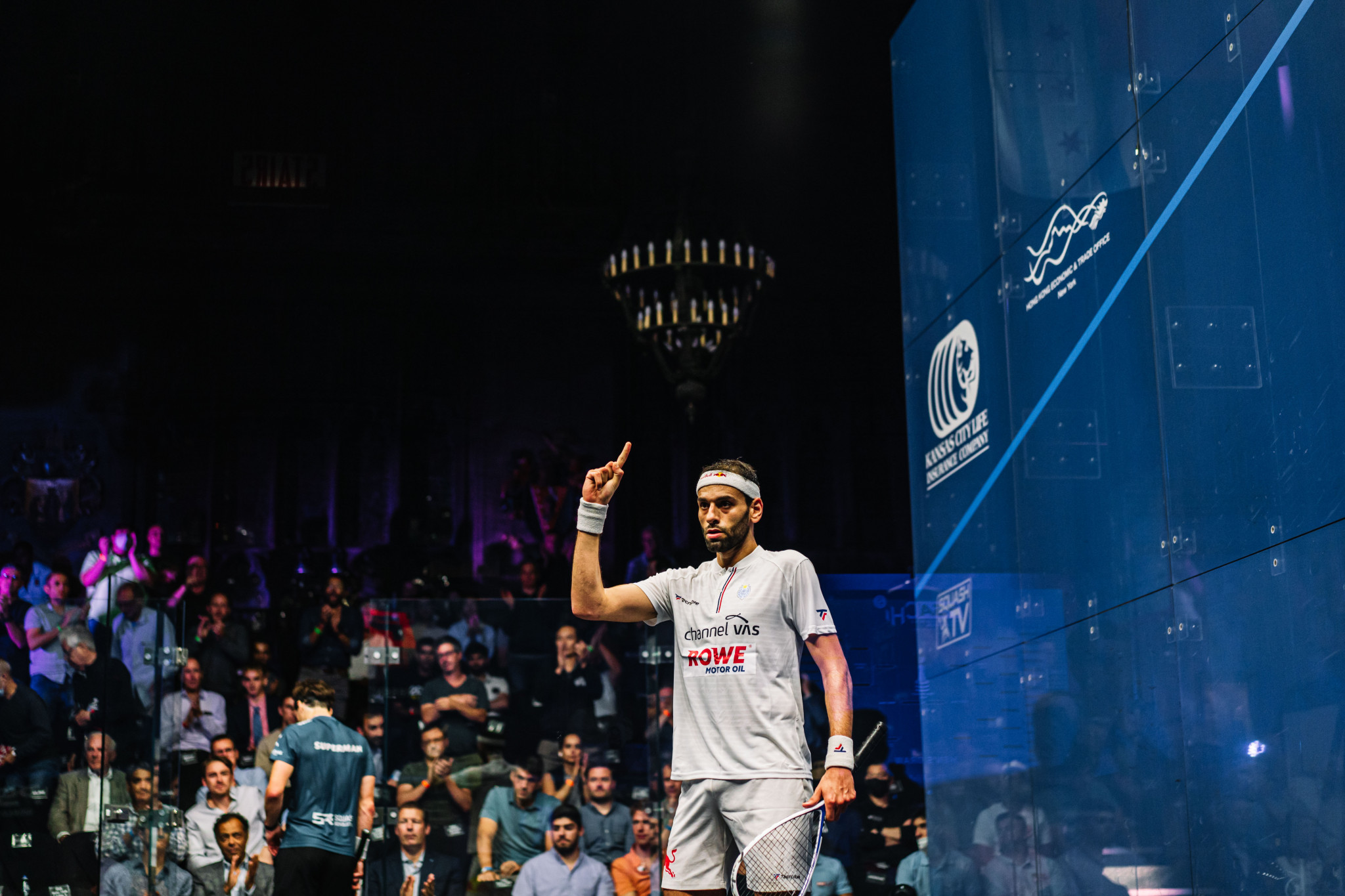 Mohamed ElShorbagy will become world number one regardless of the result of the final ©PSA