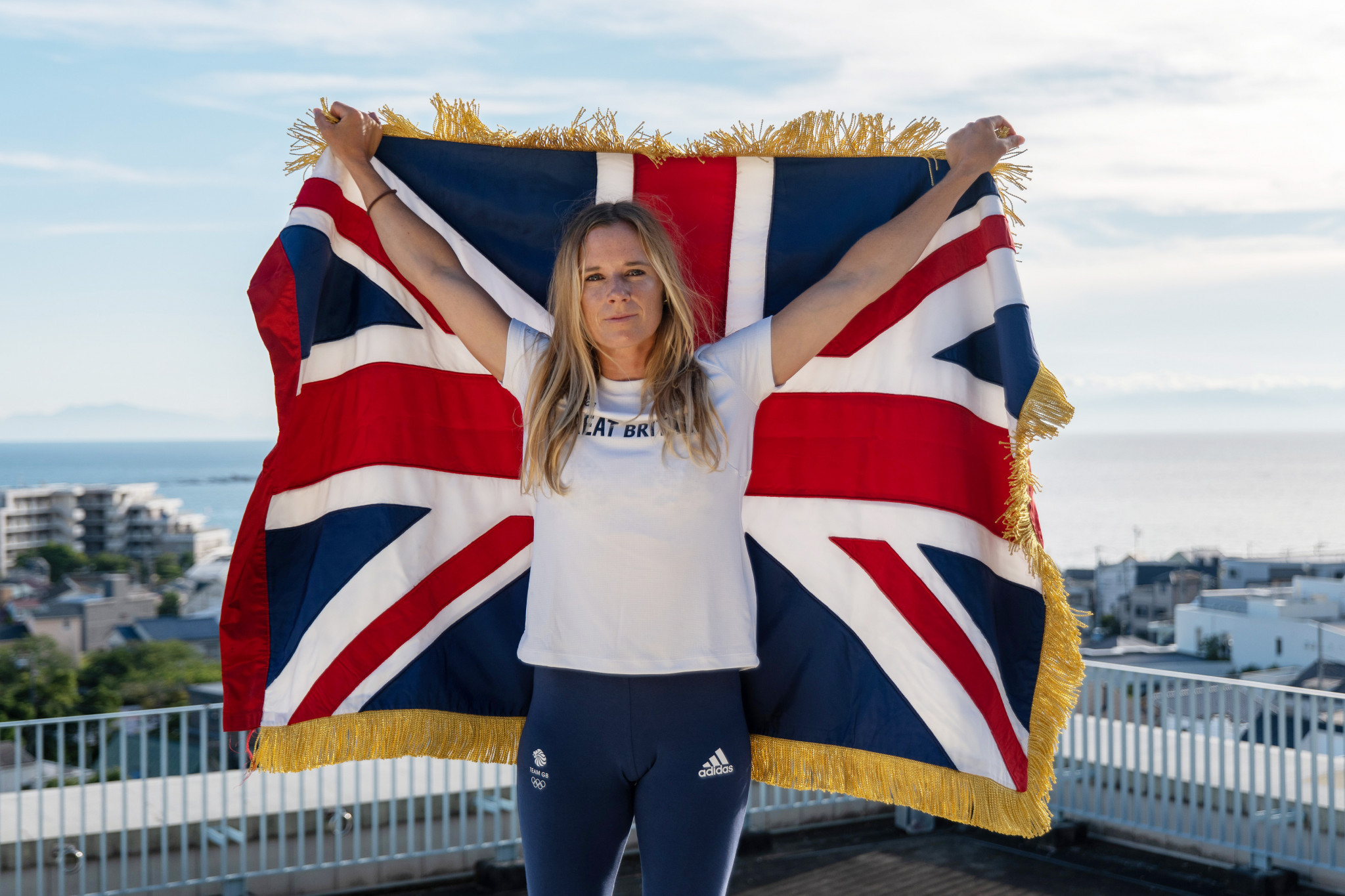 Sailor Hannah Mills has been chosen as one of two British flagbearers ©Sam Mellish/Team GB