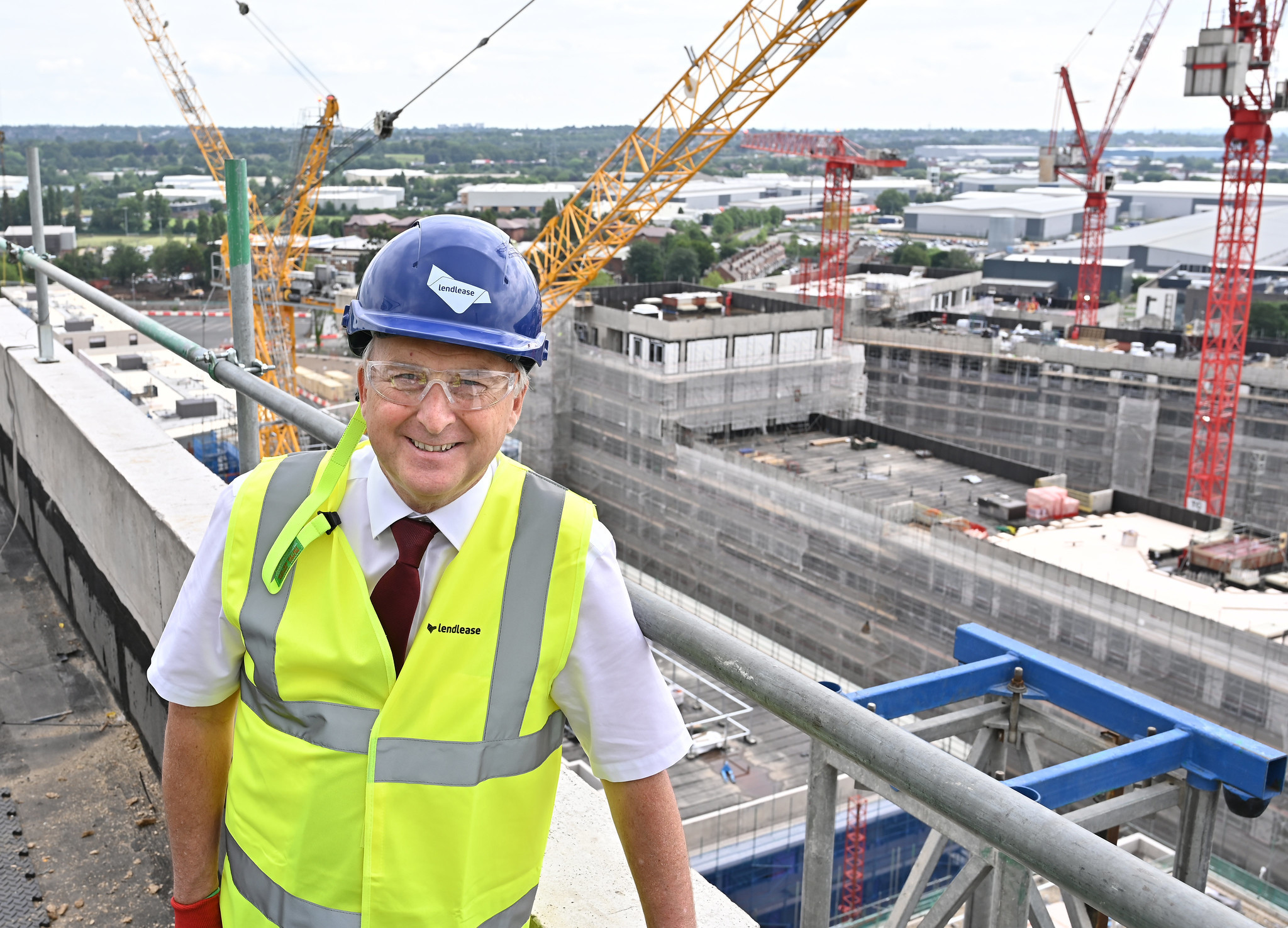 Birmingham City Council Leader Ian Ward said construction was set to be completed earlier than expected on affordable homes ©Birmingham City Council