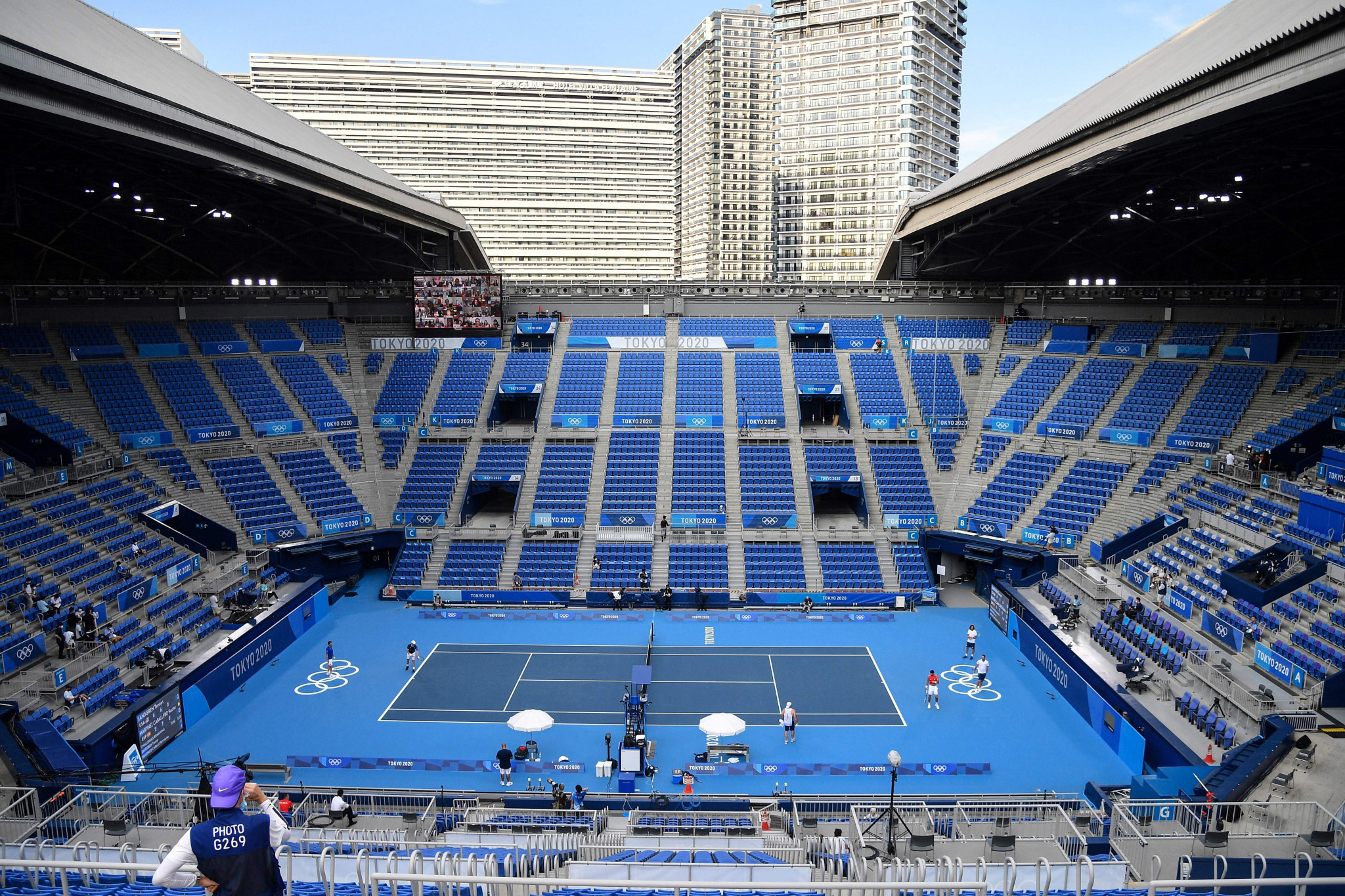 The Tokyo 2020 tennis competition is due to get underway on Saturday ©Getty Images