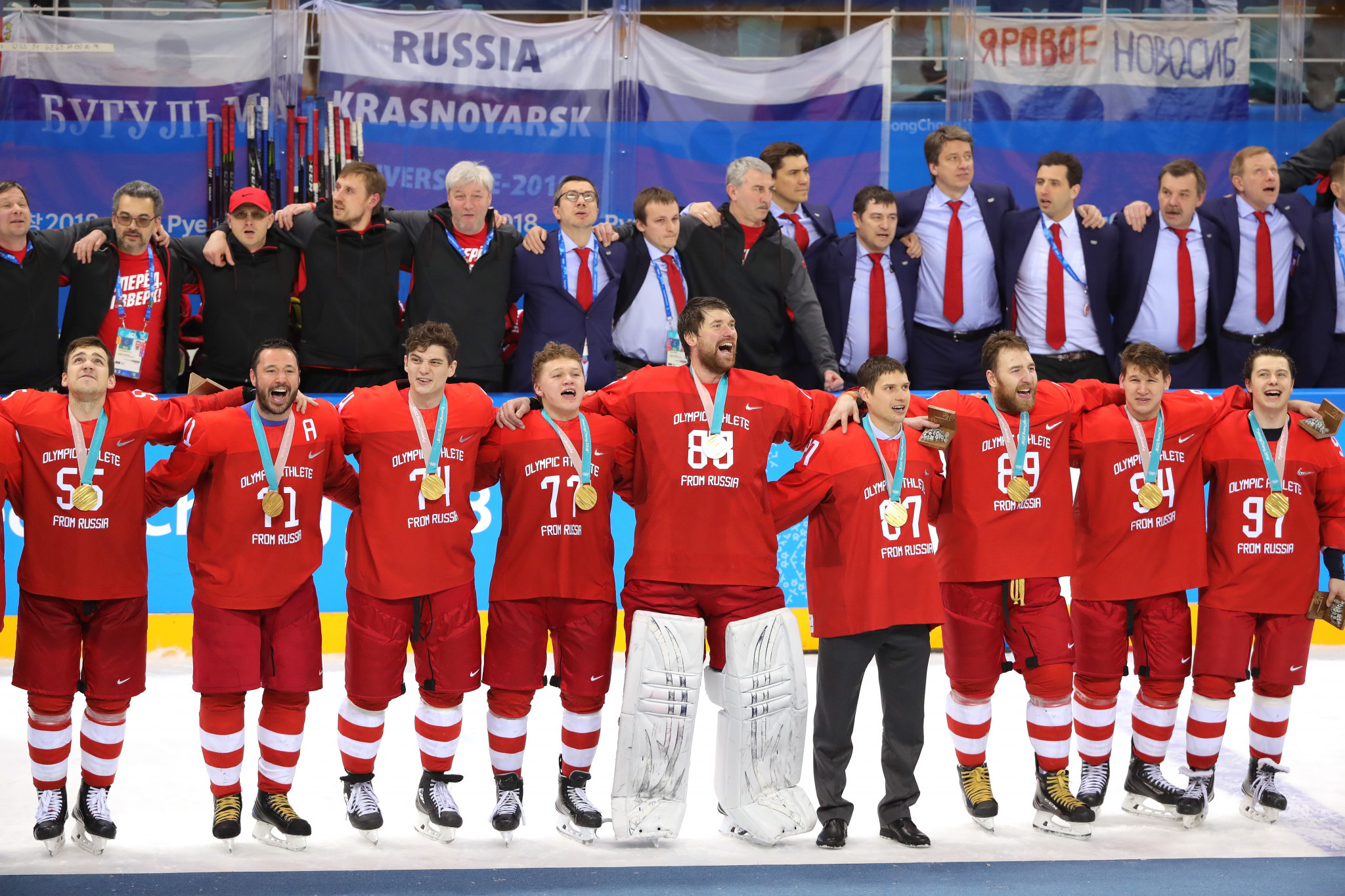 Olympic Athletes from Russia won the men's gold medal at Pyeongchang 2018 ©Getty Images