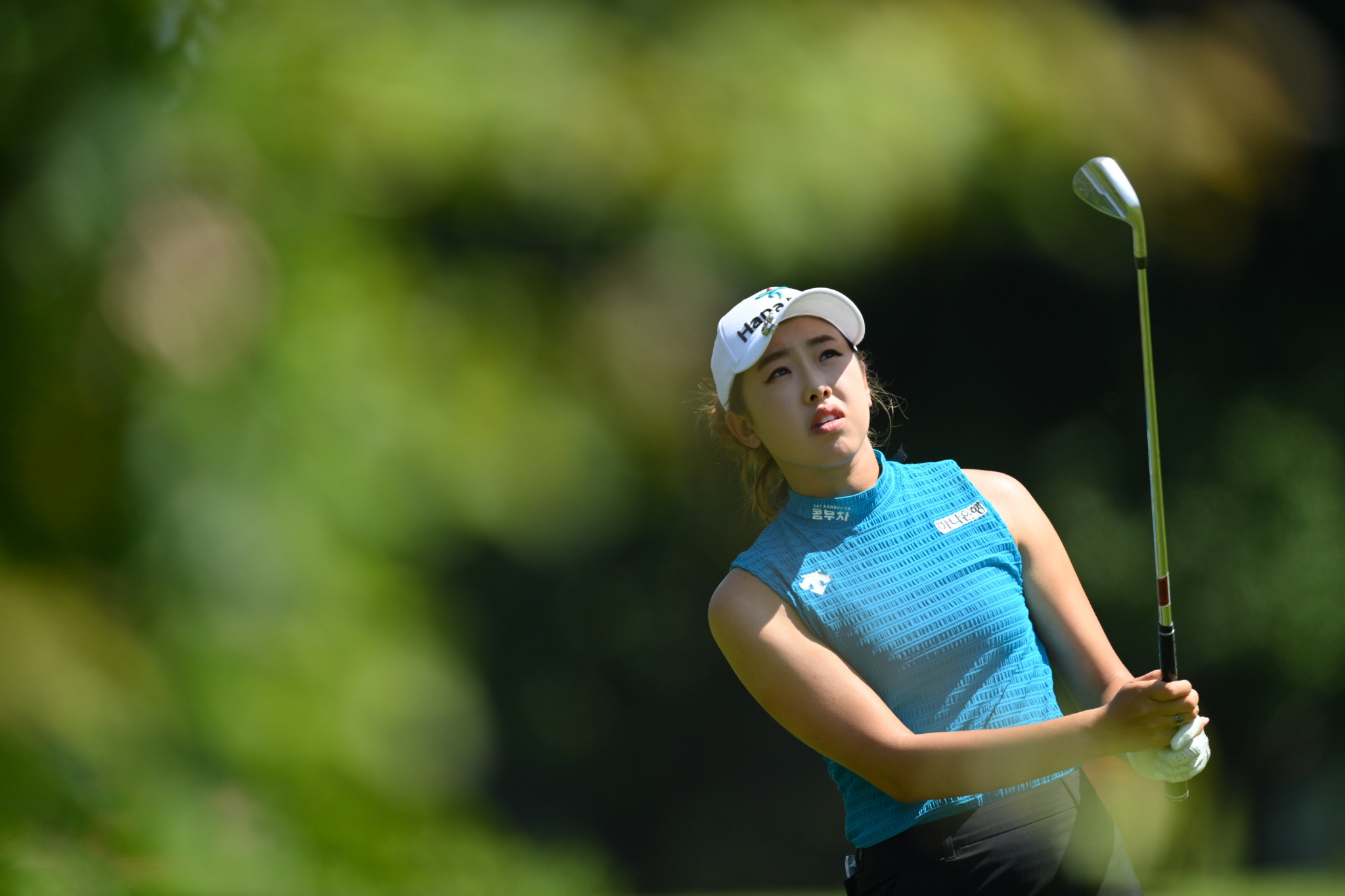 Teenager Noh tied for Evian Championship lead after opening-hole eagle