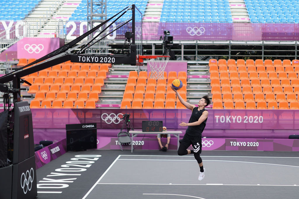 The first Olympic 3x3 matches are scheduled to be held at Aomi Urban Sports Park tomorrow ©Getty Images