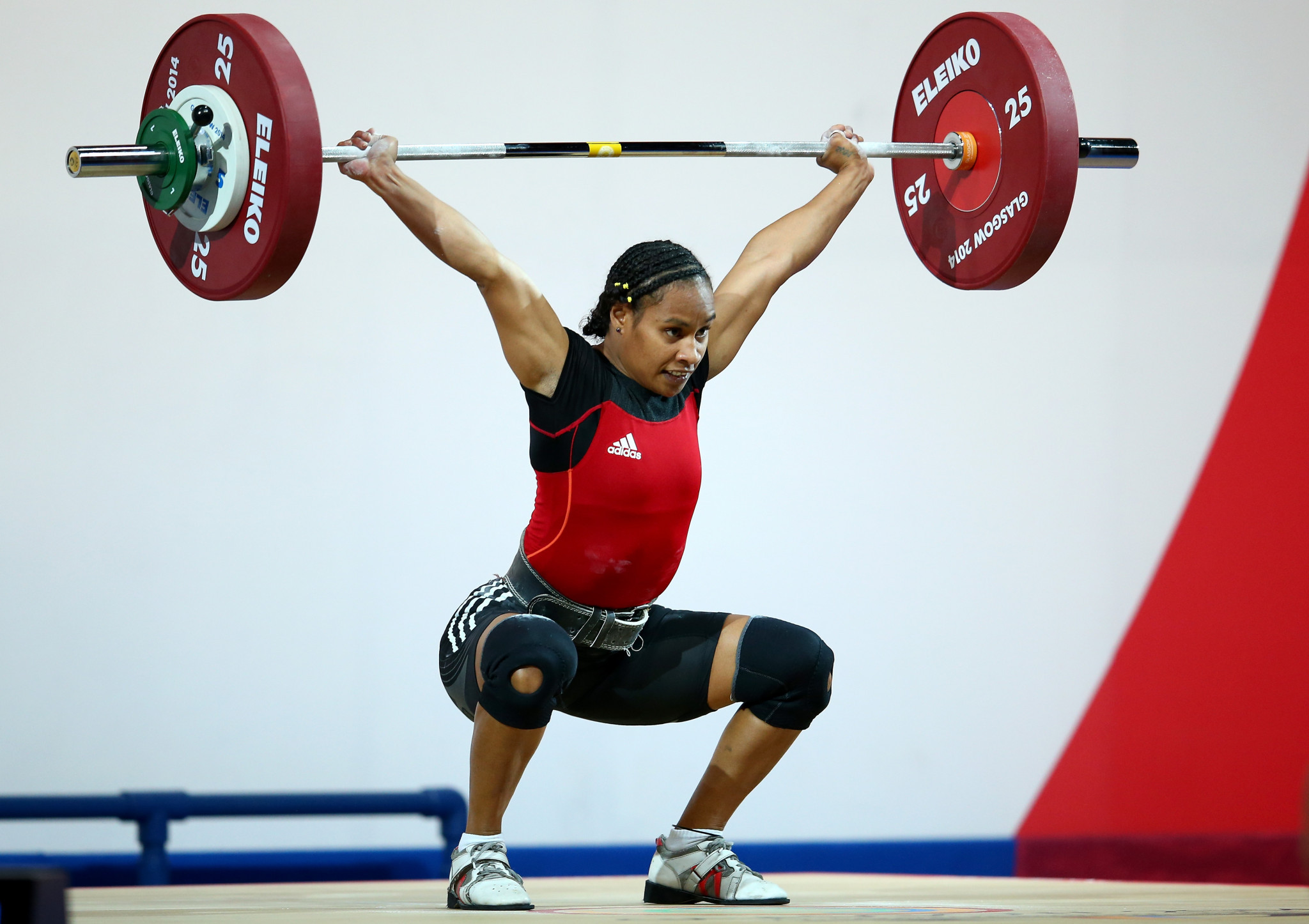 Weightlifting record-breaker Dika Toua back on platform – 21 years after Olympic debut