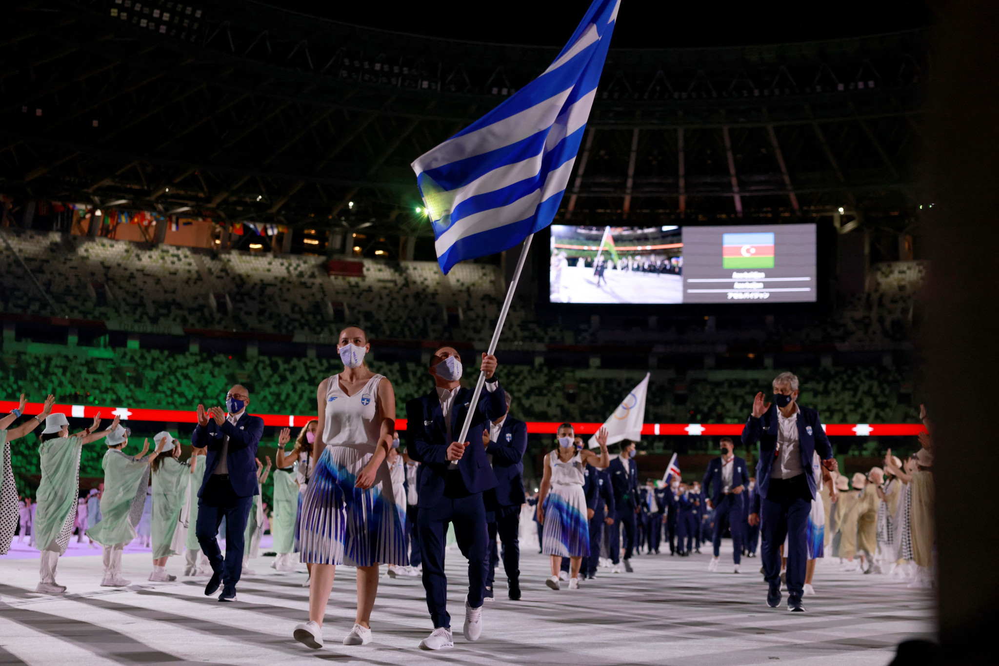 Greece led the parade in Olympic tradition ©Getty Images