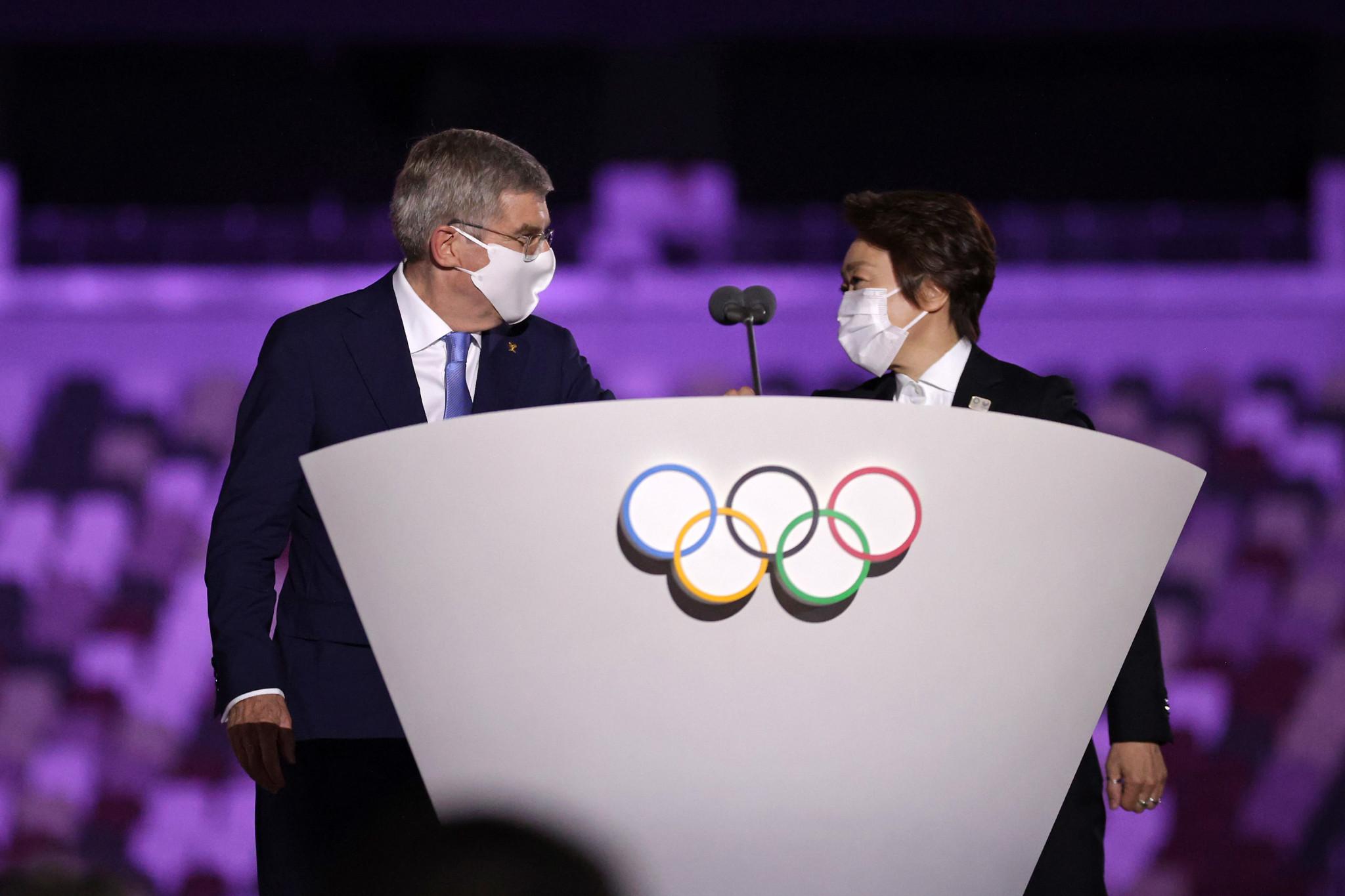 IOC President Thomas Bach and Tokyo 2020 President Seiko Hashimoto praised keyworkers ©Getty Images