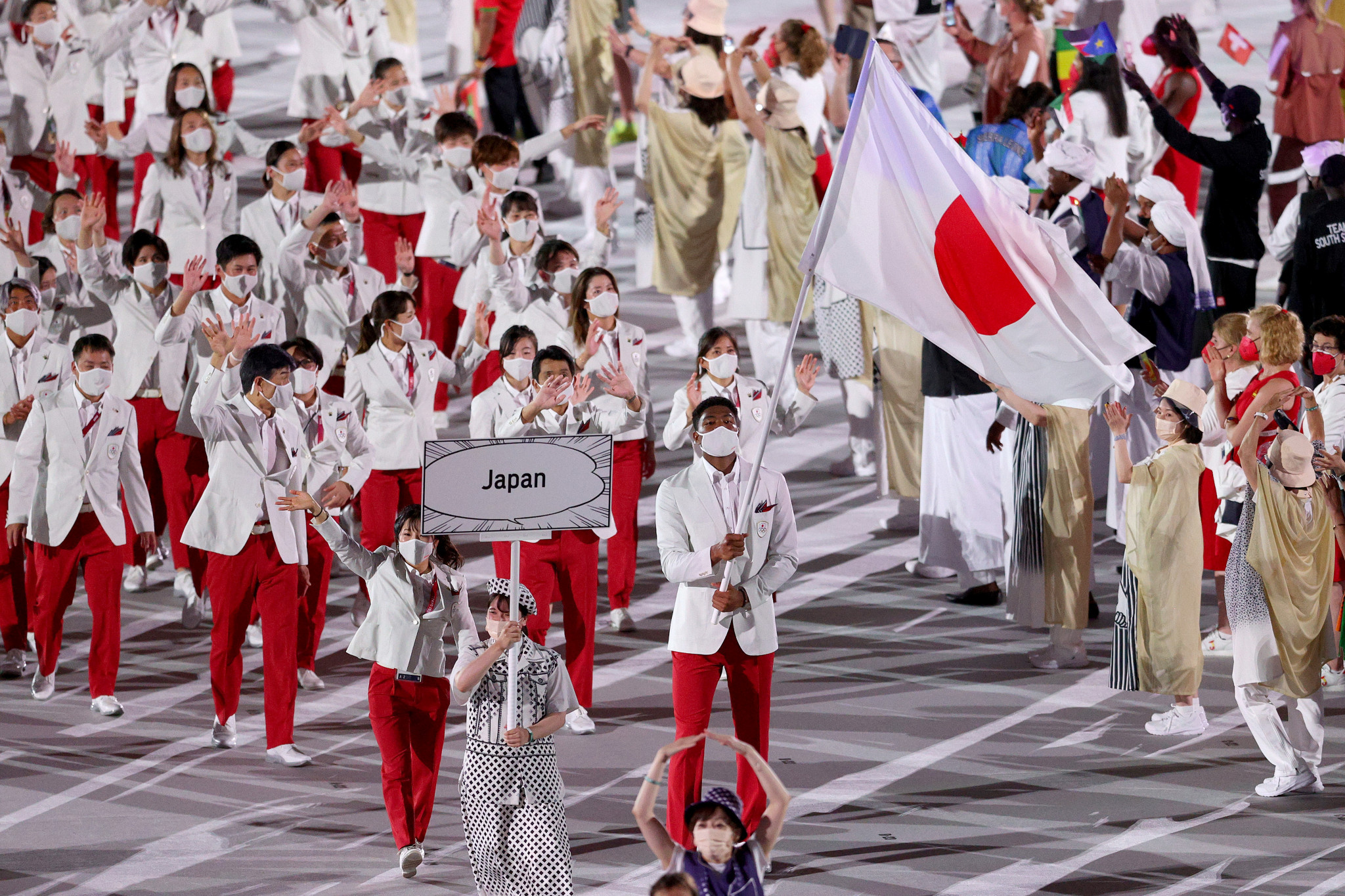 Hosts Japan were the final nation to march in the Opening Ceremony ©Getty Images