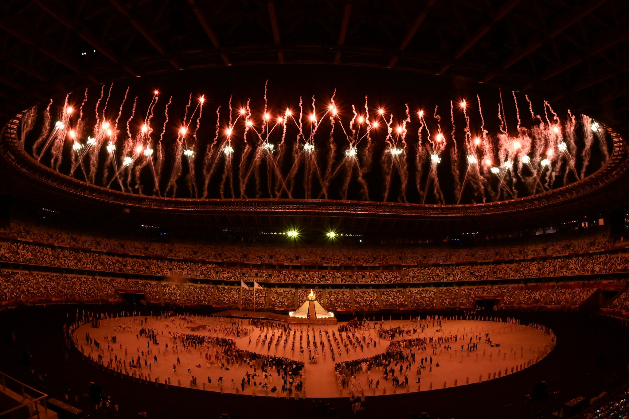 The Opening Ceremony of Tokyo 2020 has taken place a year late, in front of a near empty stadium ©Getty Images
