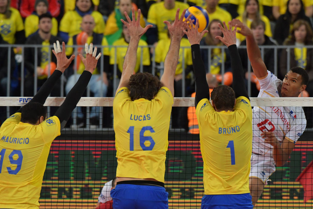 Brazil have high flying chances of defending their men's Olympic volleyball title in Rio ©Getty Images