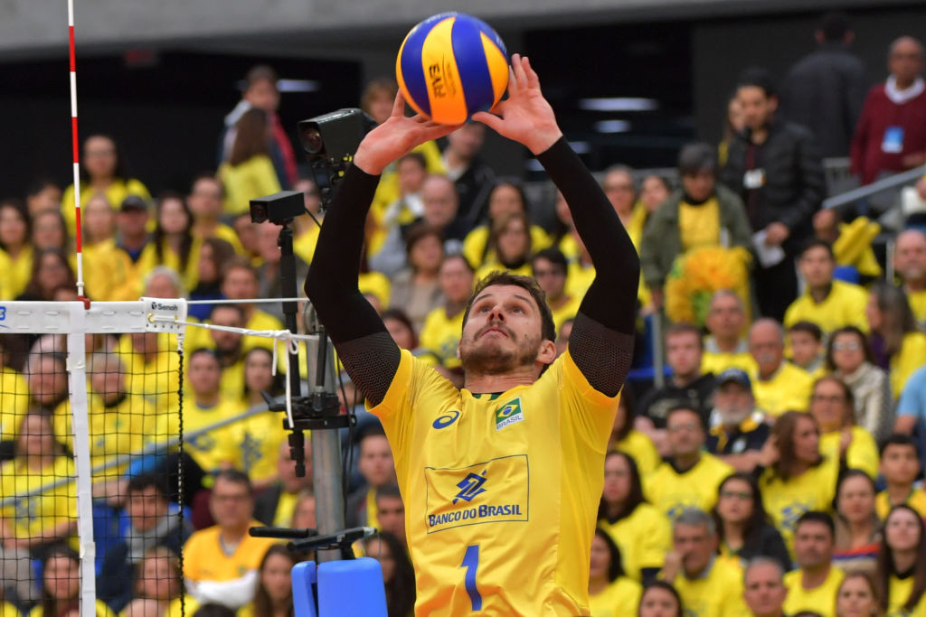 Brazil's inspirational Bruninho is seeking to inspire his team to a successful defence of their men's volleyball title at the Tokyo 2020 Olympics ©Getty Images