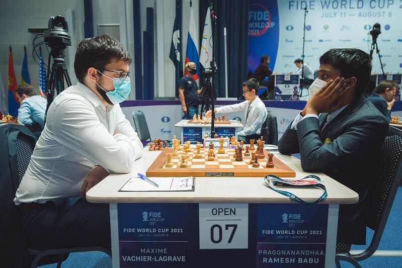 Vachier-Lagrave through to last 16 of Chess World Cup as Carlsen draws again