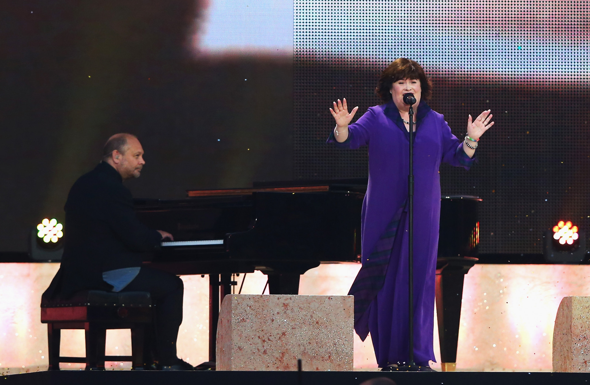 Susan Boyle's Wings to Fly accompanies release of the doves at Tokyo 2020 Opening Ceremony