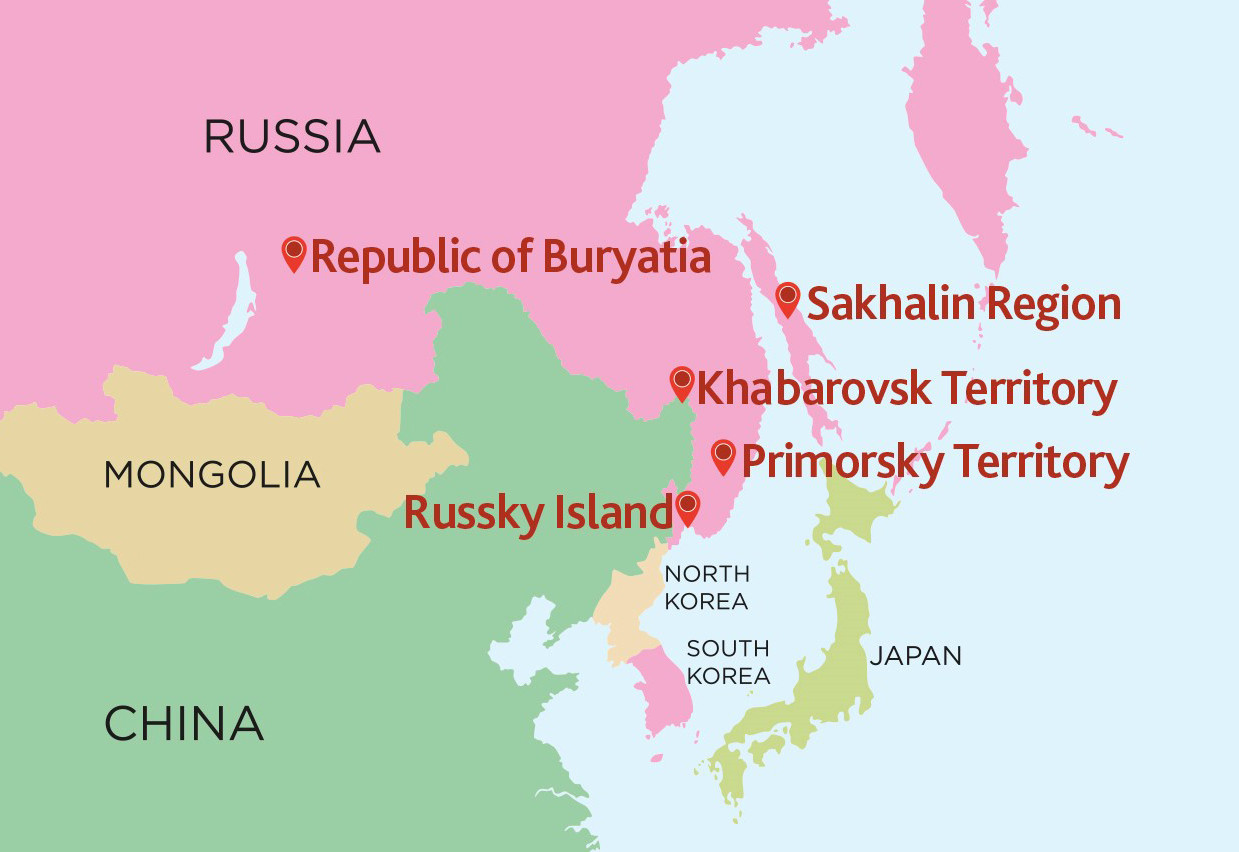 Russia took advantage of their natural geography by hosting training camps in the same time zone and climate as Japan ©Georgy Bryusov