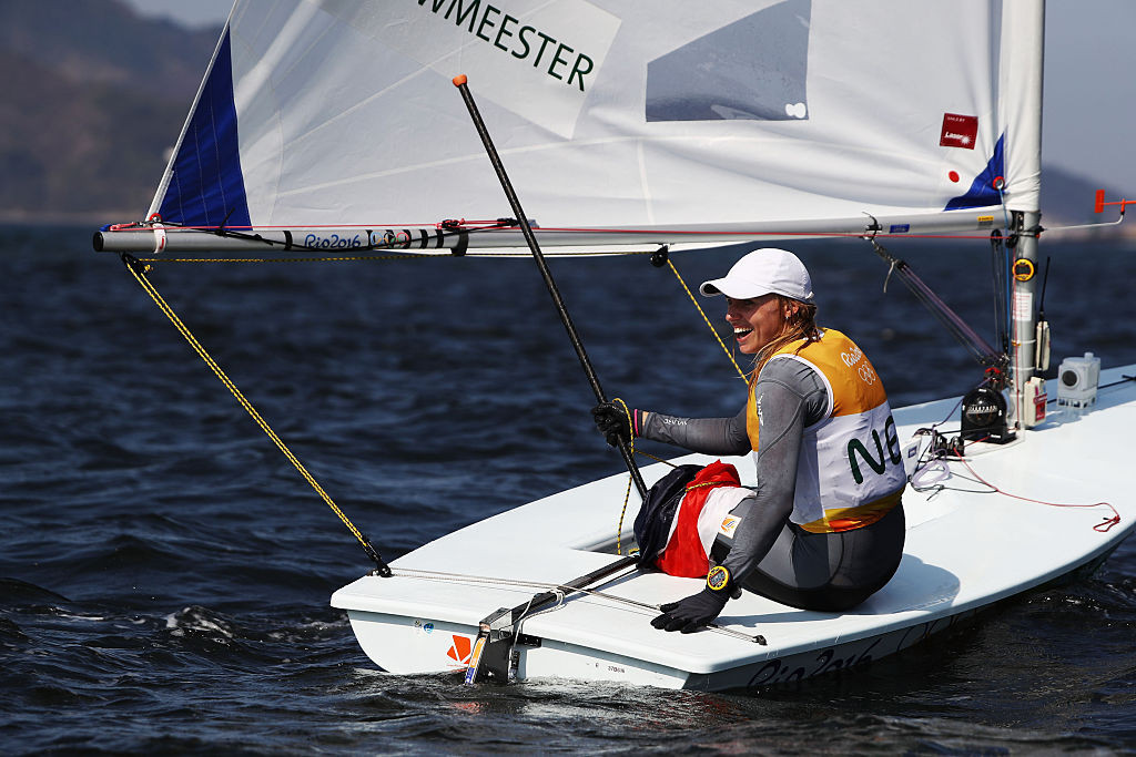 Marit Bouwmeester of The Netherlands will start the defence of her Olympic Laser FX title tomorrow ©Getty Images