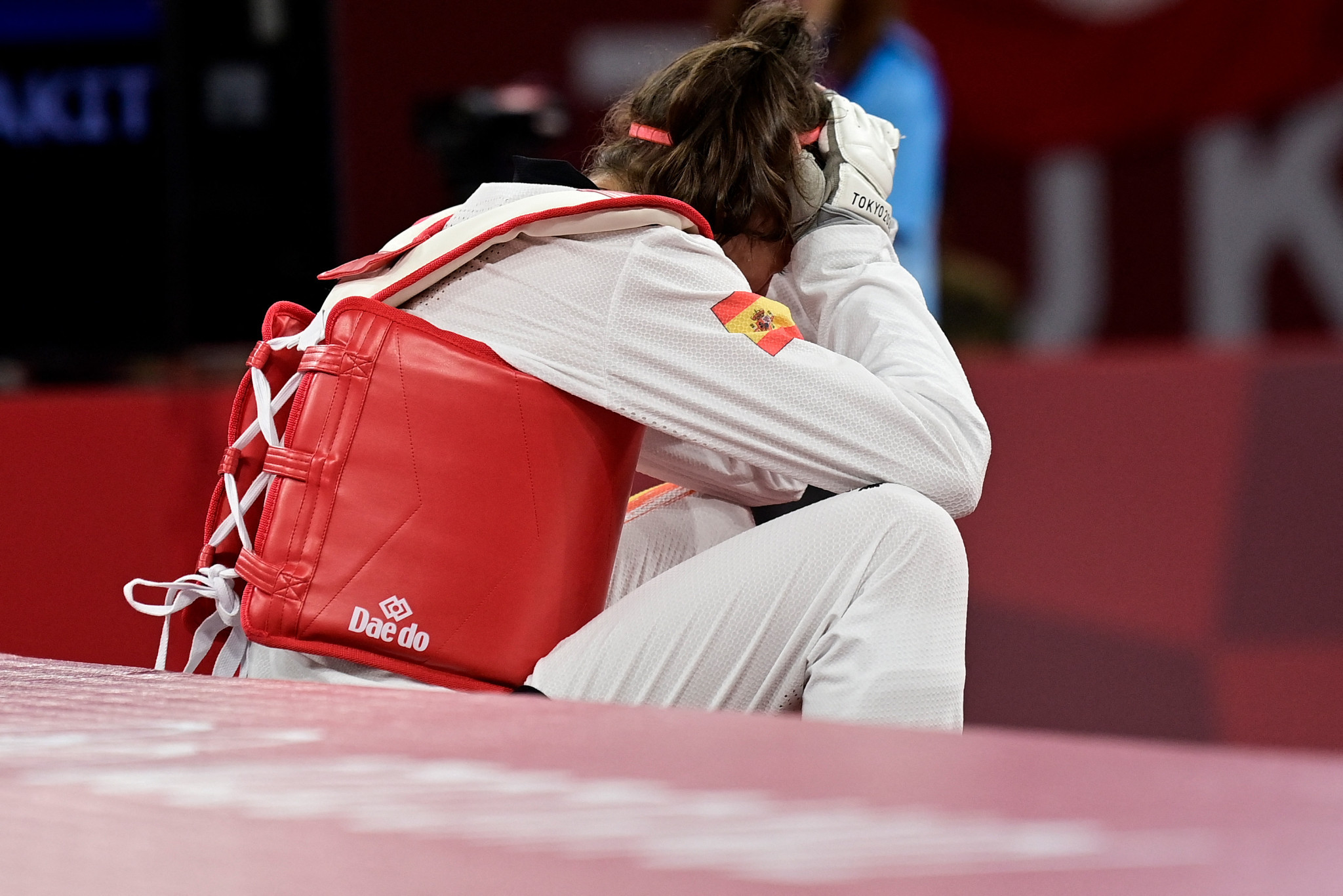 Spanish teenager Adriana Cerezo was dejected by the outcome ©Getty Images