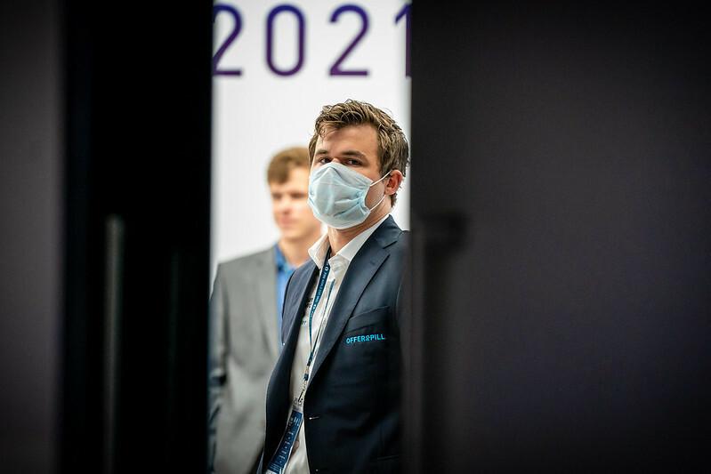 Magnus Carlsen has advanced to the fifth round of the Chess World Cup ©FIDE/Anastasiia Kurulkova