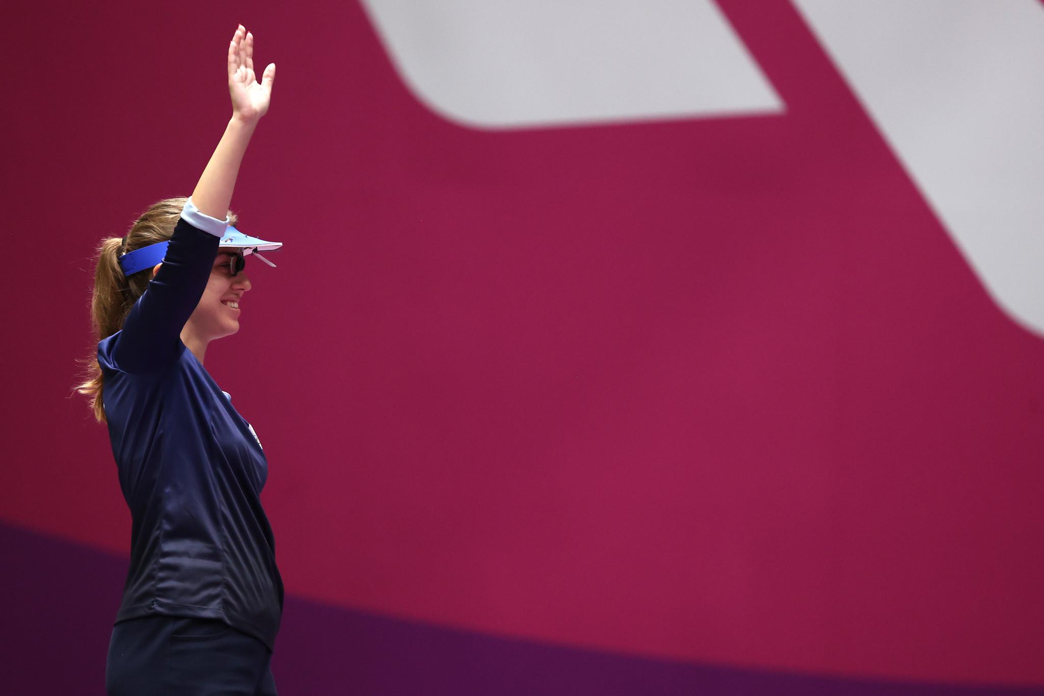 Batsarashkina becomes first ROC gold medallist