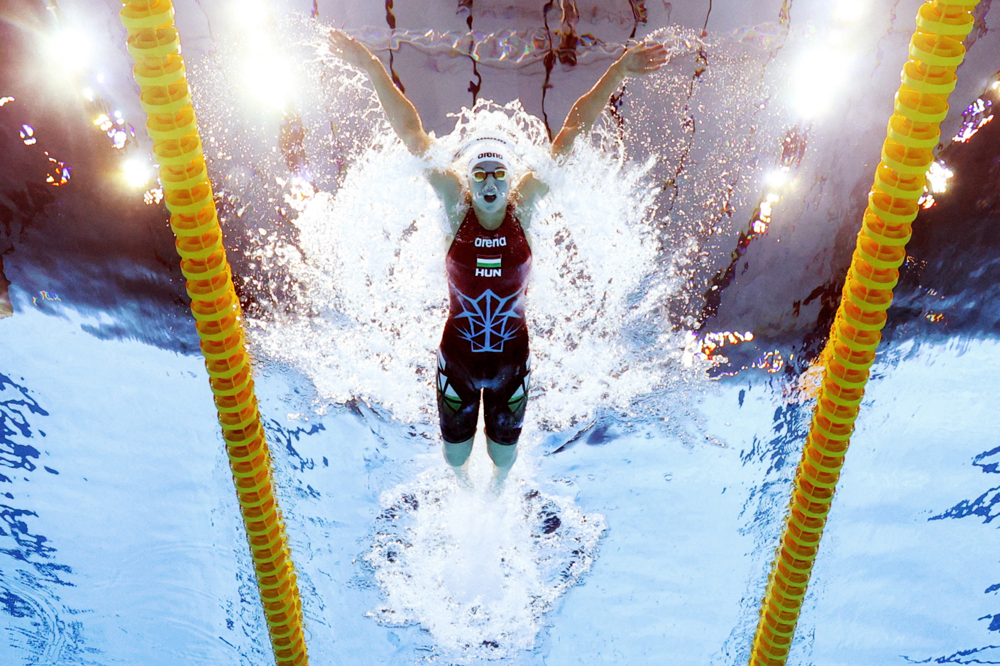 Three-time Olympic champion Katinka Hosszú of Hungary looks to lay down a marker in the heats of the women's 400-metre individual medley contest ©Getty Images