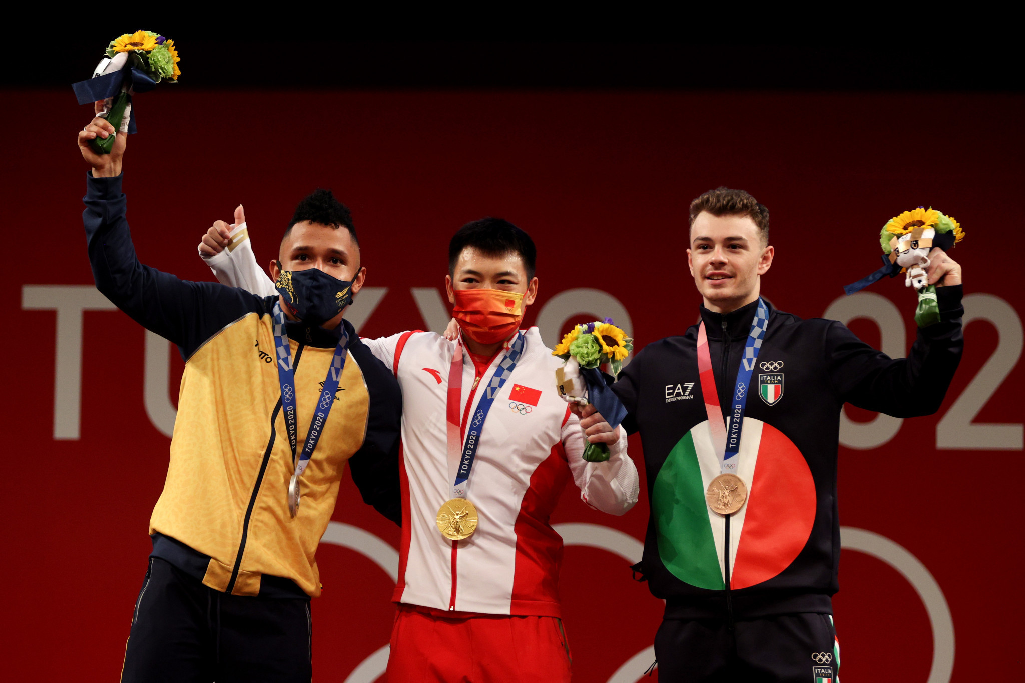 China denies Colombia in sensational weightlifting session - and Italy claims bronze