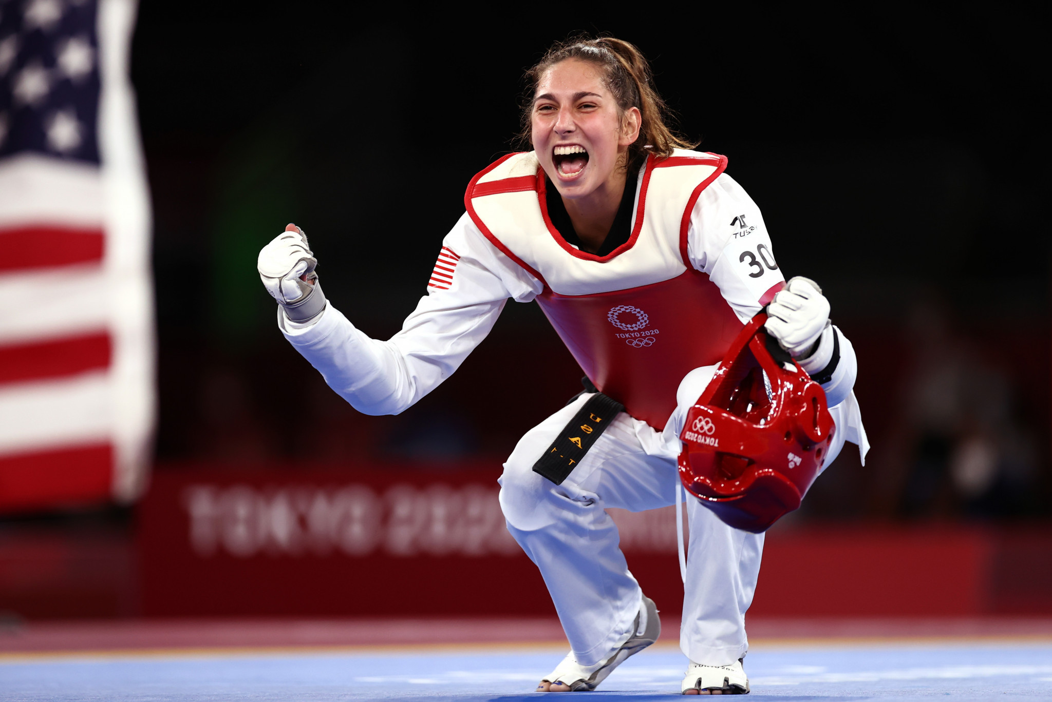 Anastasija Zolotic is the first American woman to win taekwondo gold ©Getty Images