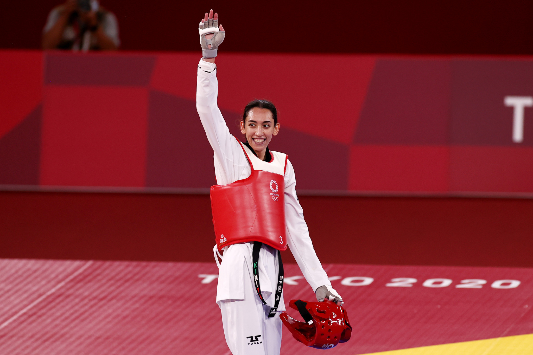 Refugee athlete Kimia Alizadeh stunned Jade Jones but lost her bronze-medal contest ©Getty Images