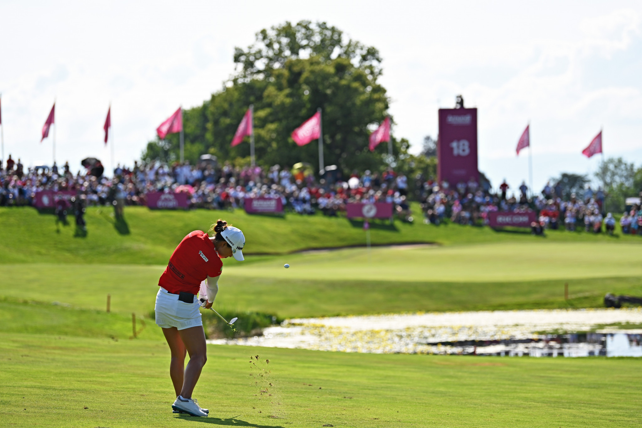 Minjee Lee set up the victory with a stunning second shot on the playoff hole ©Getty Images