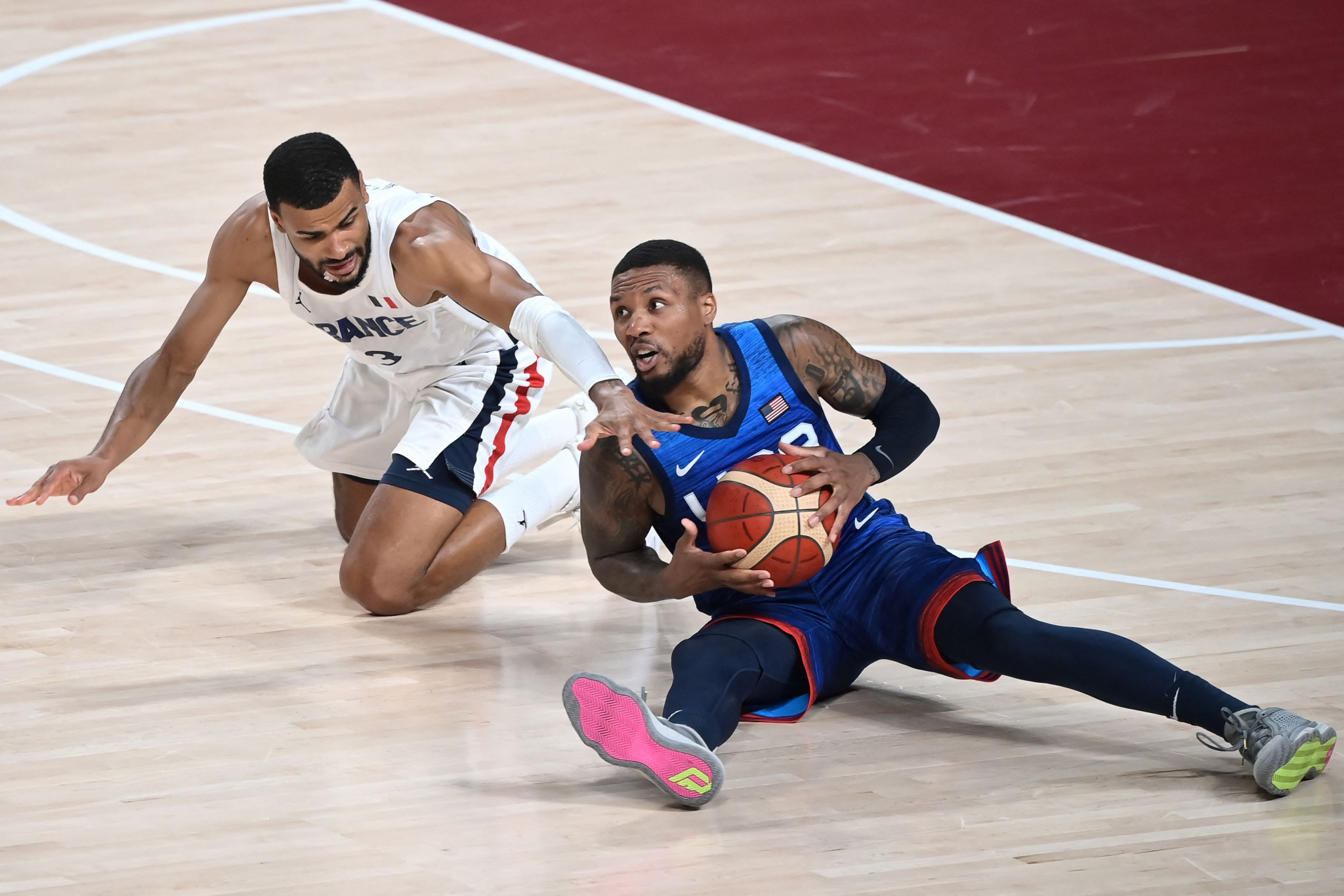 There was also an upset in the men's basketball as the United States lost an Olympic match for the first time since 2004, coming up short against France - the same team who eliminated the Americans at the 2019 World Cup ©Getty Images