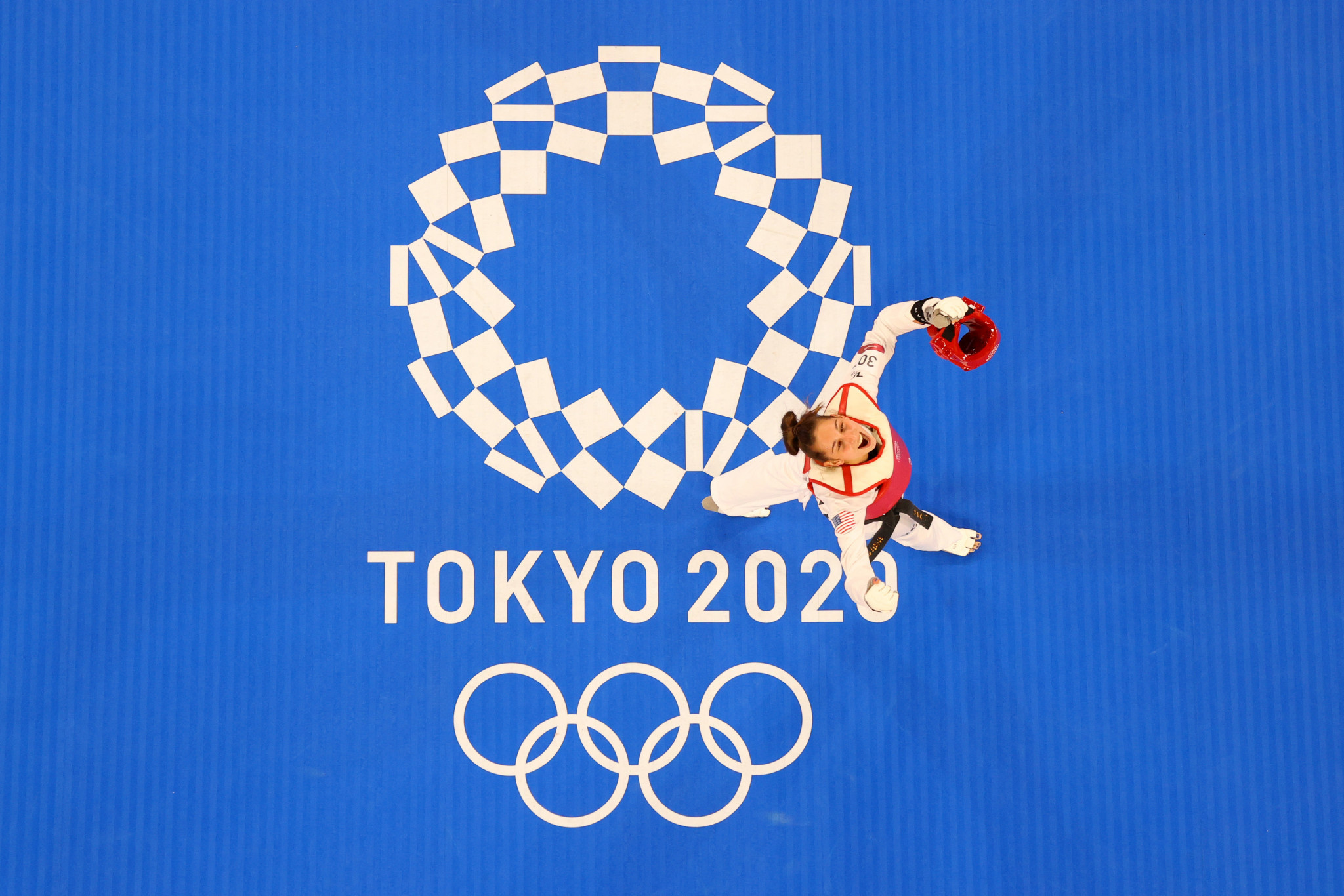 American Anastasija Zolotic was among the gold medallists on day two of competition at Tokyo 2020, claiming the women's under-52kg taekwondo crown ©Getty Images