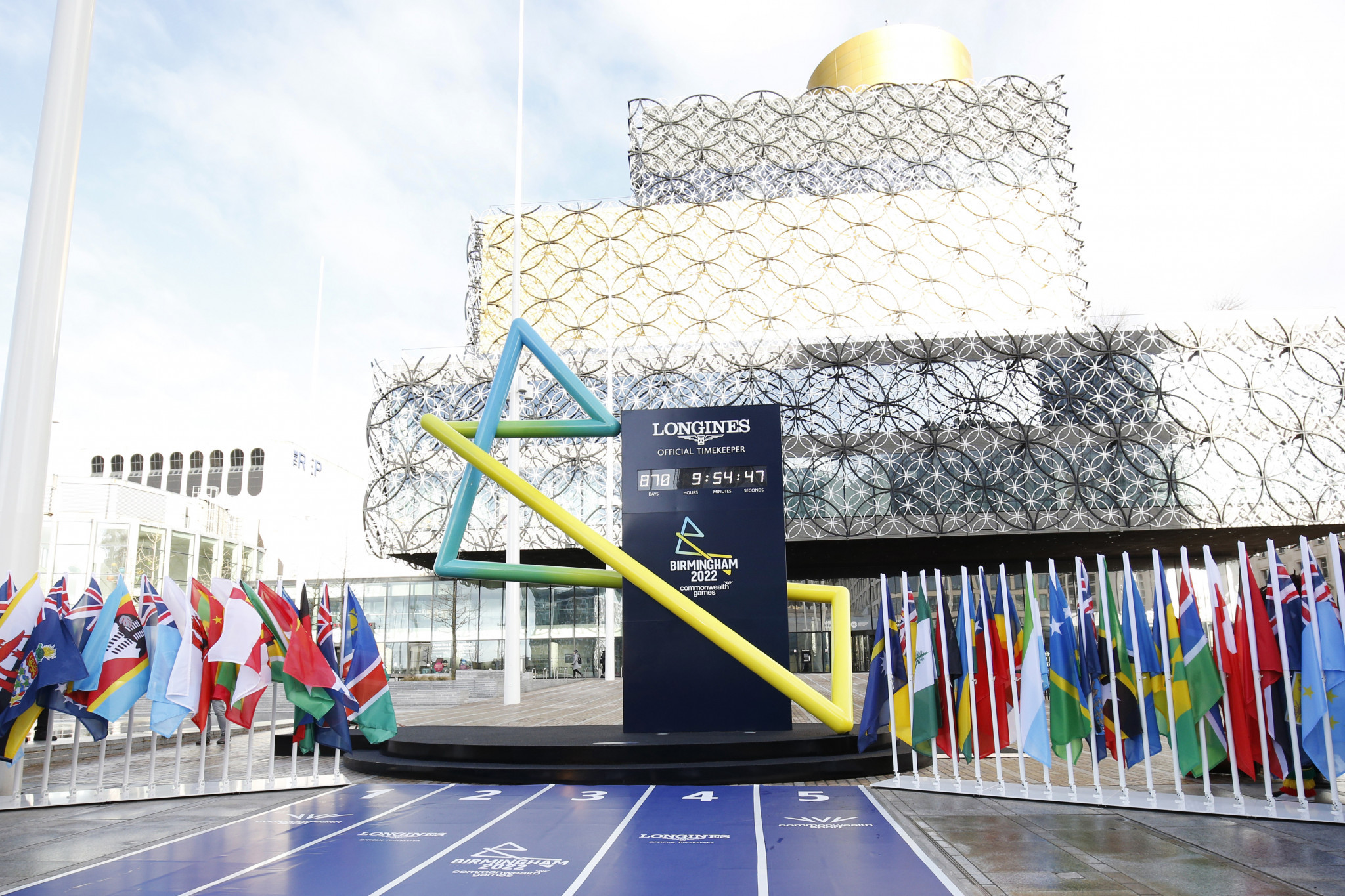Birmingham 2022's countdown clock is set to reach 365 days to go on Wednesday ©Getty Images