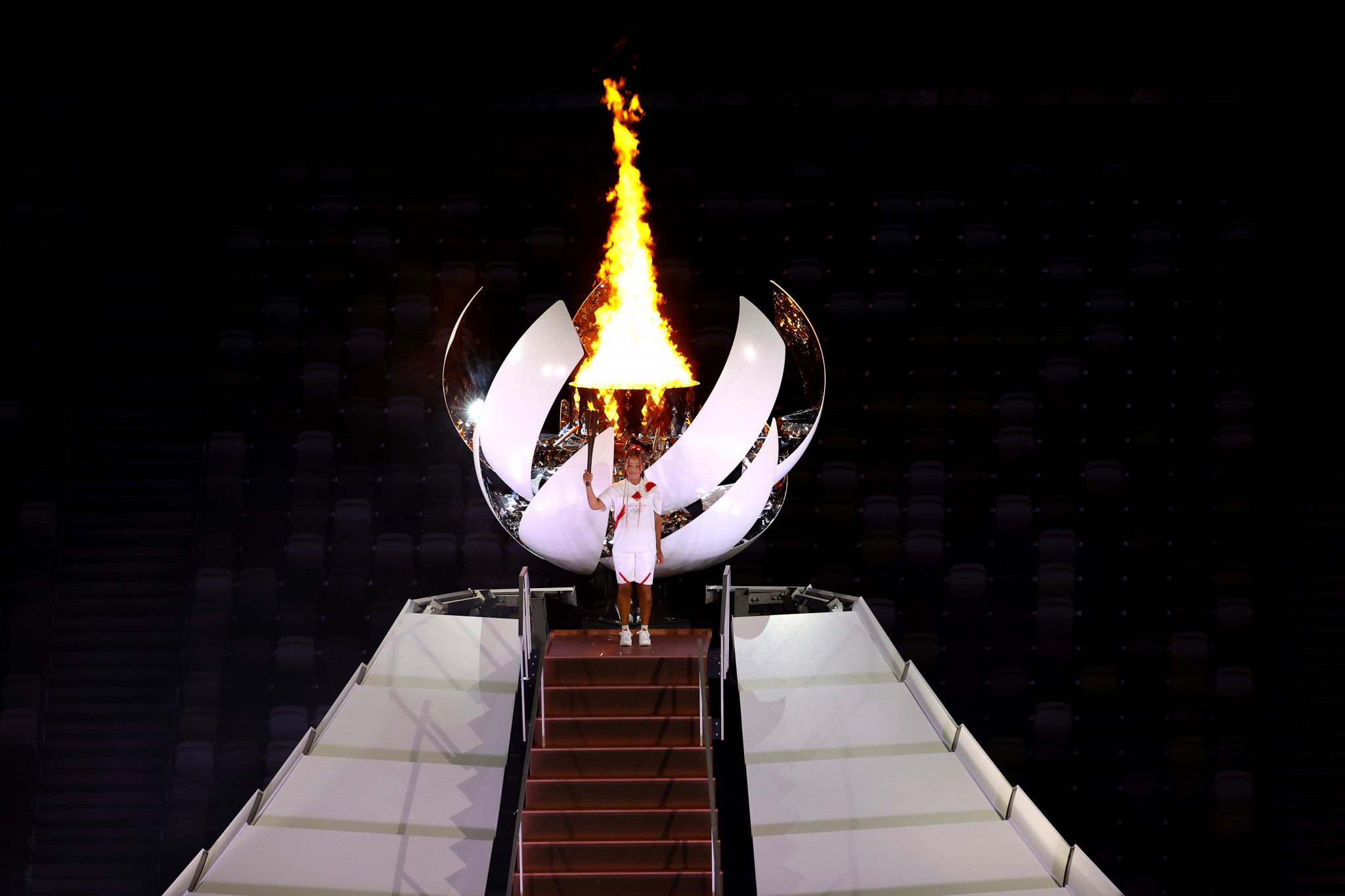 Naomi Osaka was an obvious choice to light the Tokyo 2020 Olympic Cauldron ©Getty Images