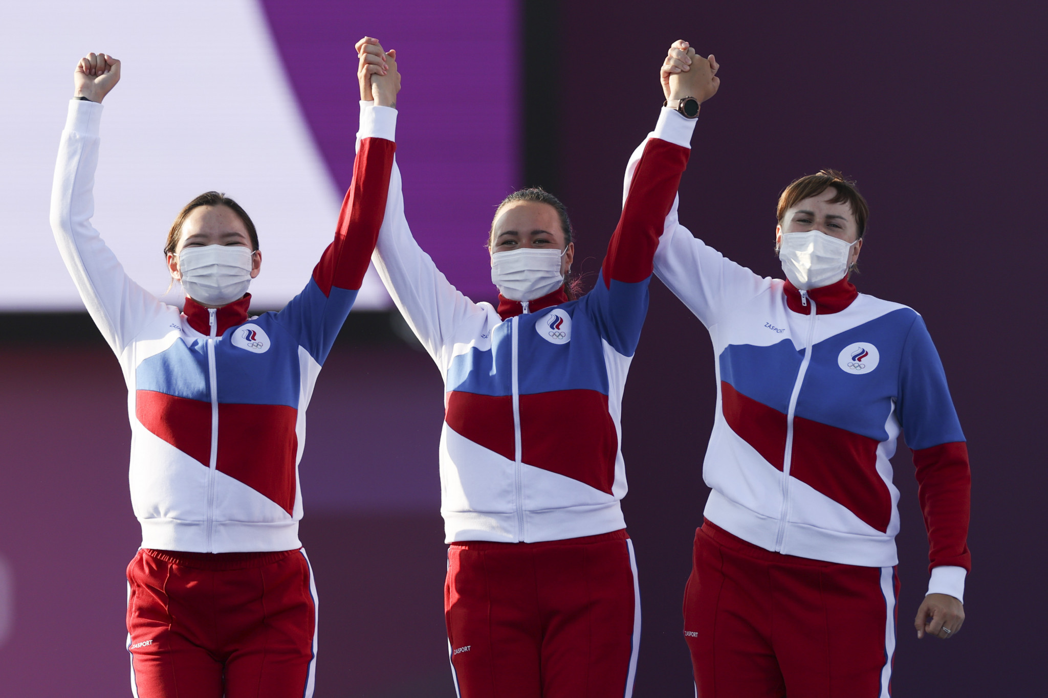The Russian Olympic Committee team were pleased with their silver medals, despite the comprehensive manner of their defeat to South Korea ©Getty Images