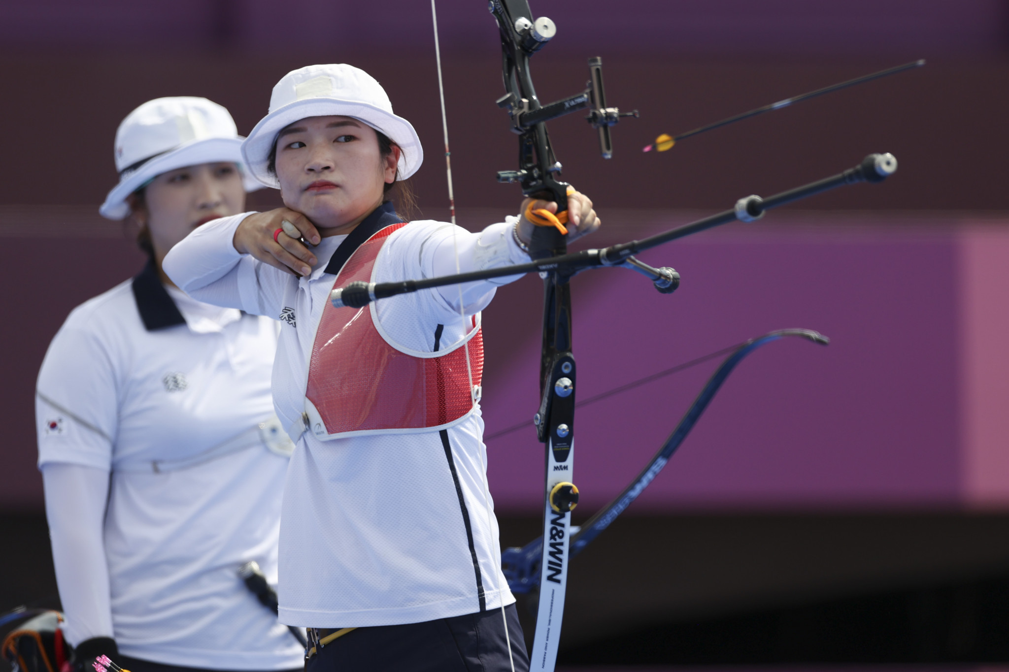 Kang Chae Young claimed her second gold medal of Tokyo 2020 as a member of South Korea's archery team ©Getty Images