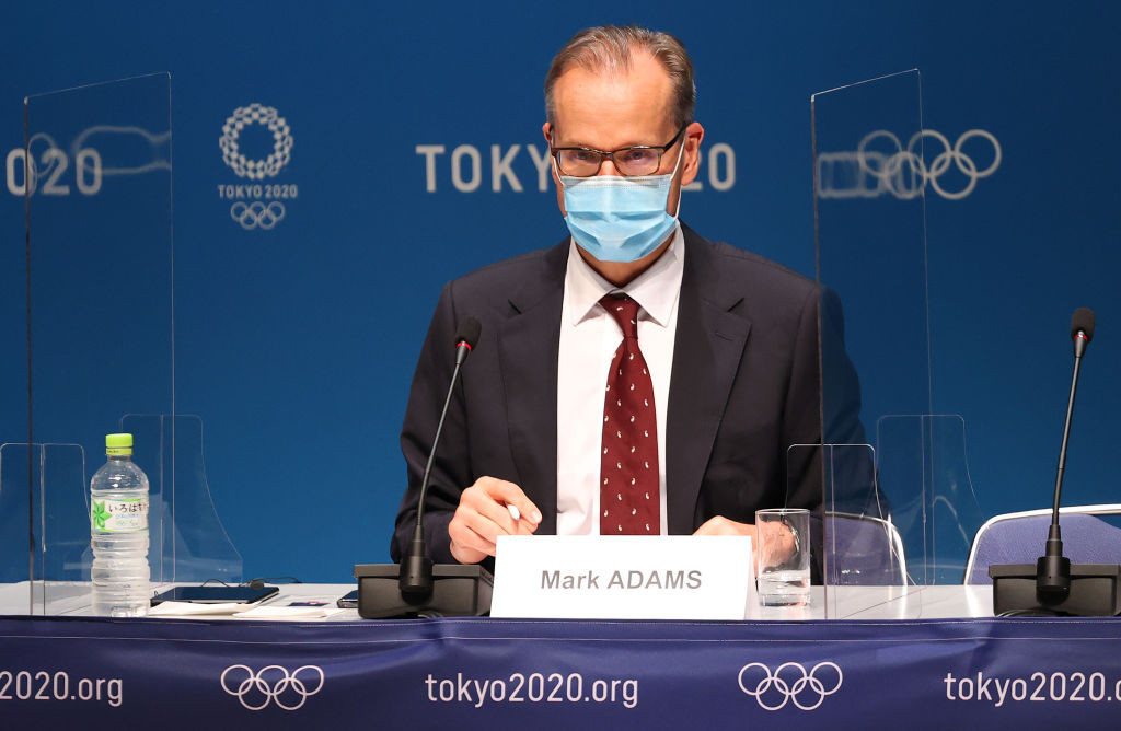 IOC Presidential spokesperson Mark Adams conceded not all Tokyo 2020 participants had been following the COVID-19 rules in place at the Games ©Getty Images