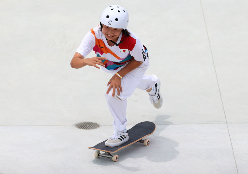 Thirteen-year-old girl completes historic Olympic double for Japan in skateboarding