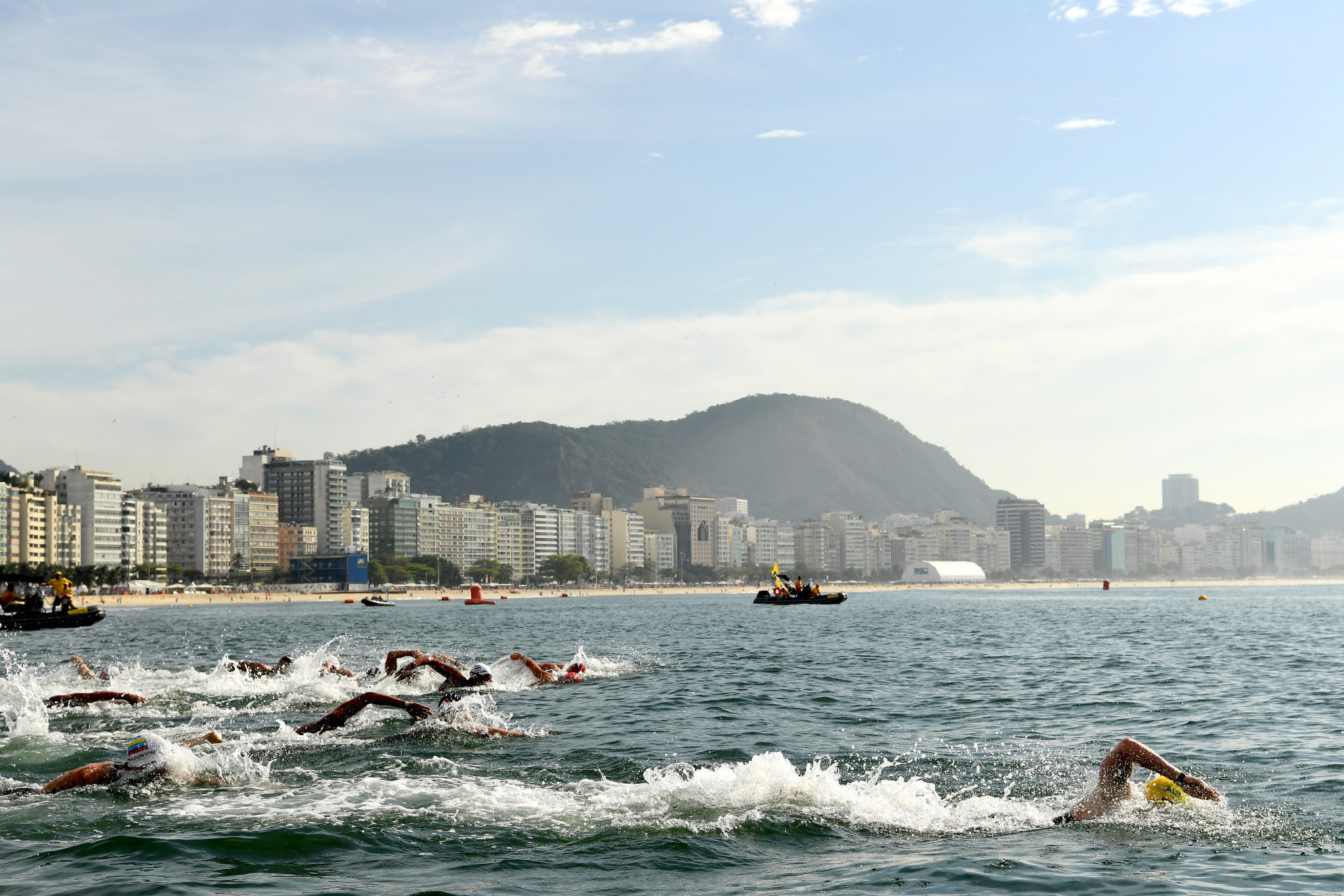 Vitaliy Khudyakov was disqualified from the Rio 2016 10km marathon swimming event ©Getty Images