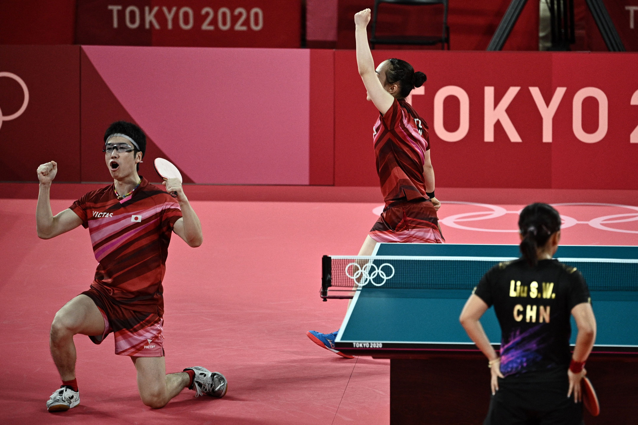 Japan won mixed doubles gold as the discipline made its Olympic debut ©Getty Images
