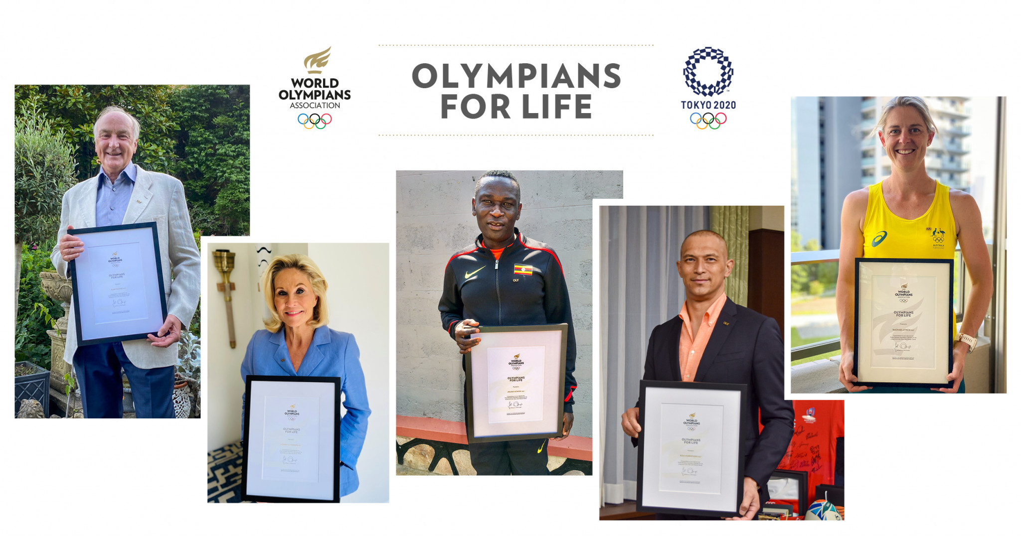 Five new Olympians for Life including Tokyo 2020 participant Lynch presented by WOA