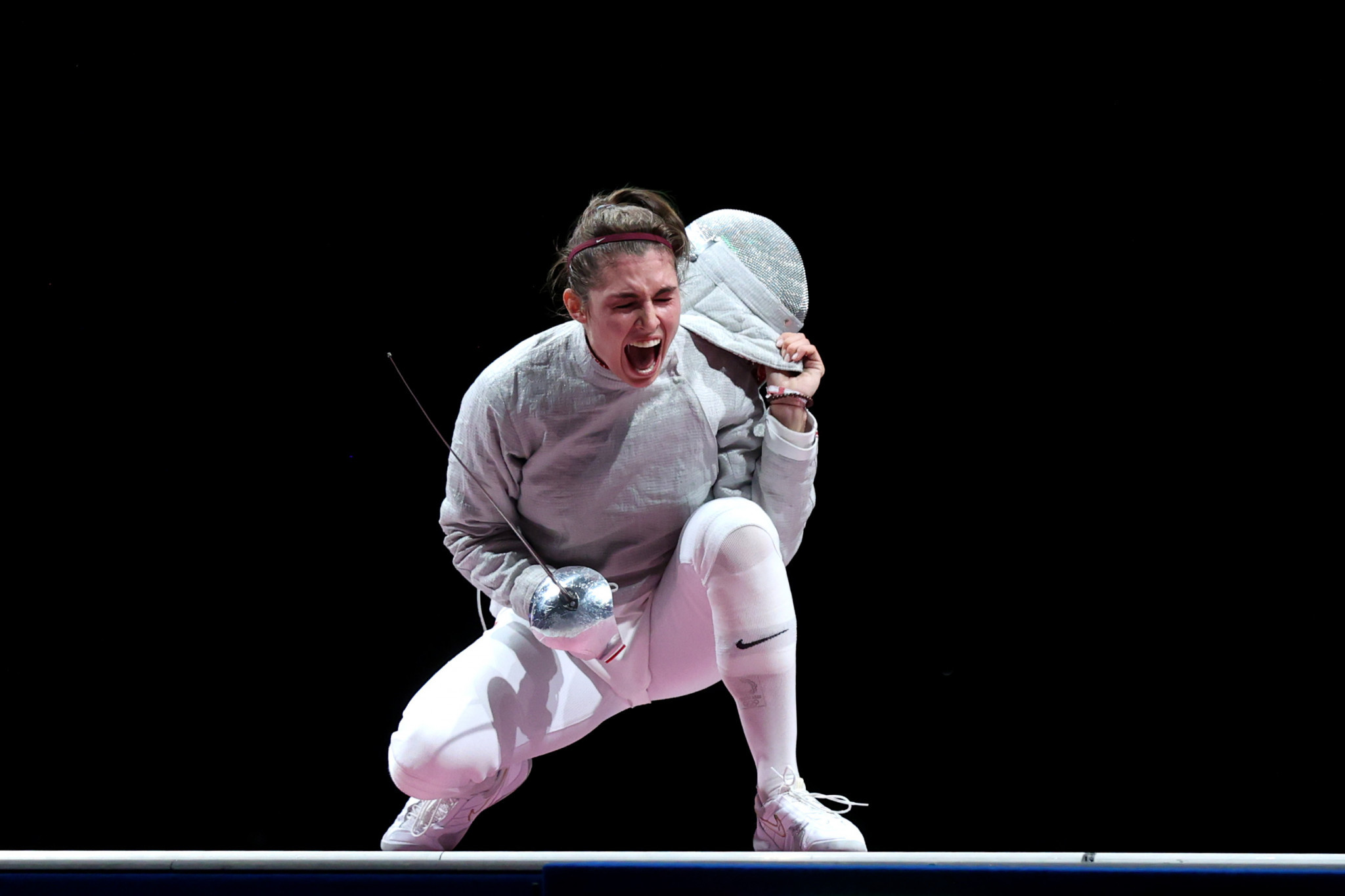 Sofia Pozdniakova beat fellow ROC fencer Sofya Velikaya to claim Olympic gold in the women's sabre at Tokyo 2020 ©Getty Images