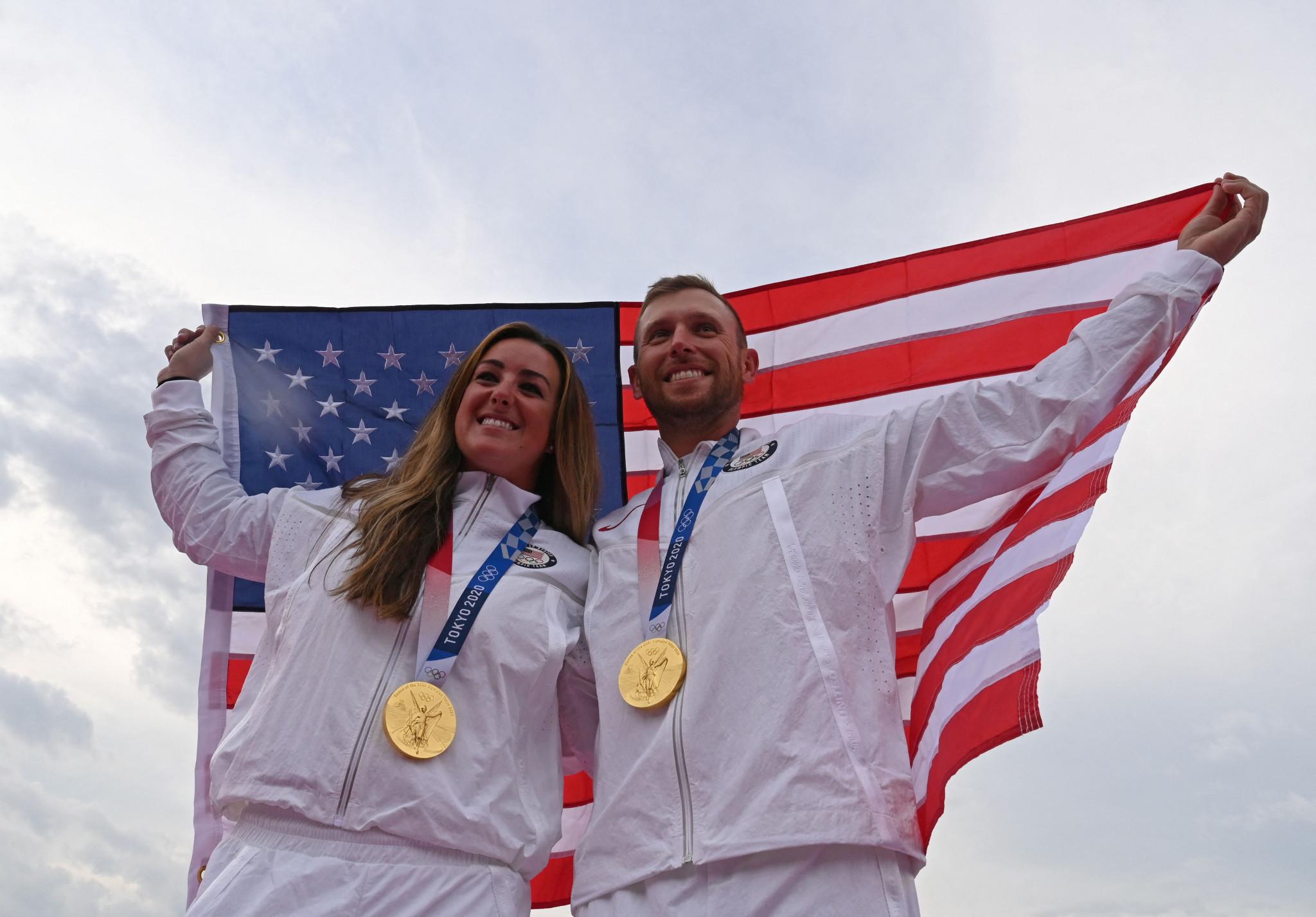 English and Hancock set Olympic records as US win both Tokyo 2020 skeet titles