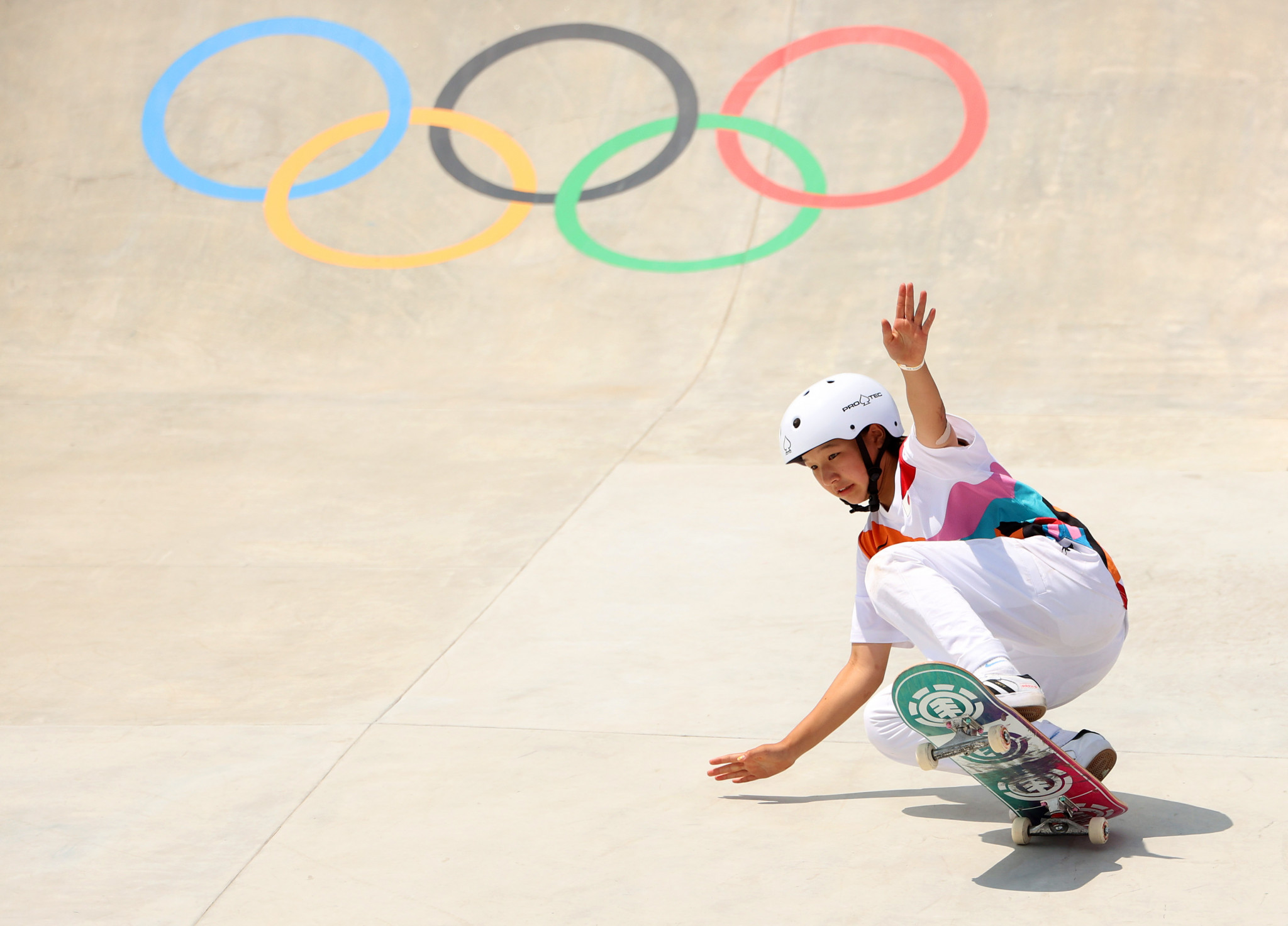 The host nation added three more golds today, with Momiji Nishiya getting Japan started with a women's street skateboarding triumph ©Getty Images