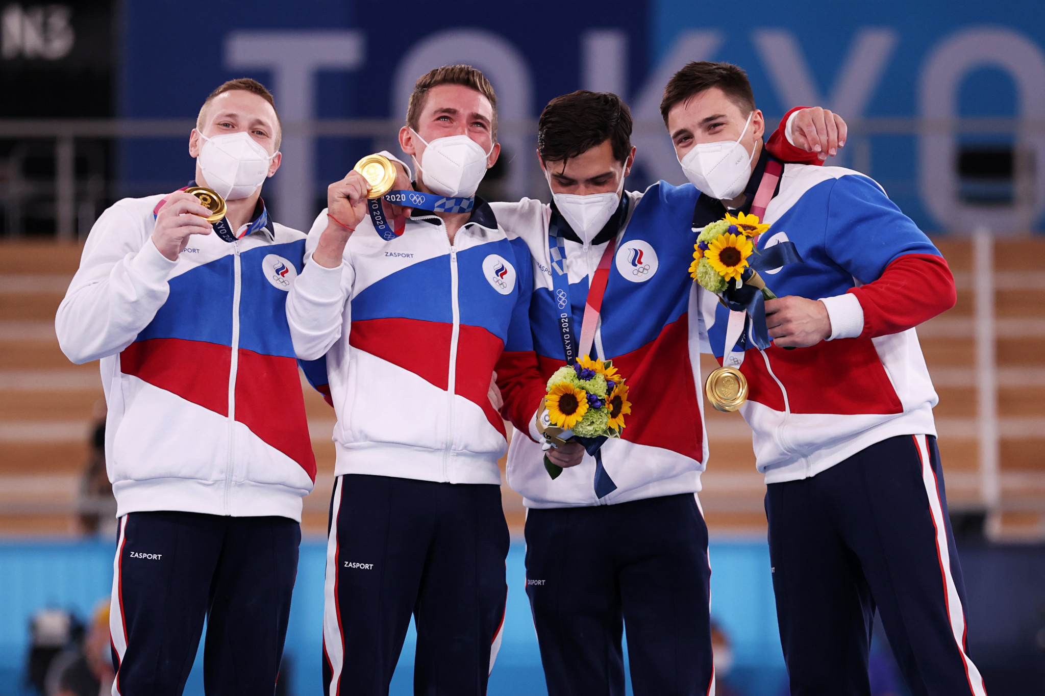 The first gymnastic gold medal of Tokyo 2020 went the way of ROC, with a points total of 262.500 narrowly enough to win a high-quality men's team final ©Getty Images