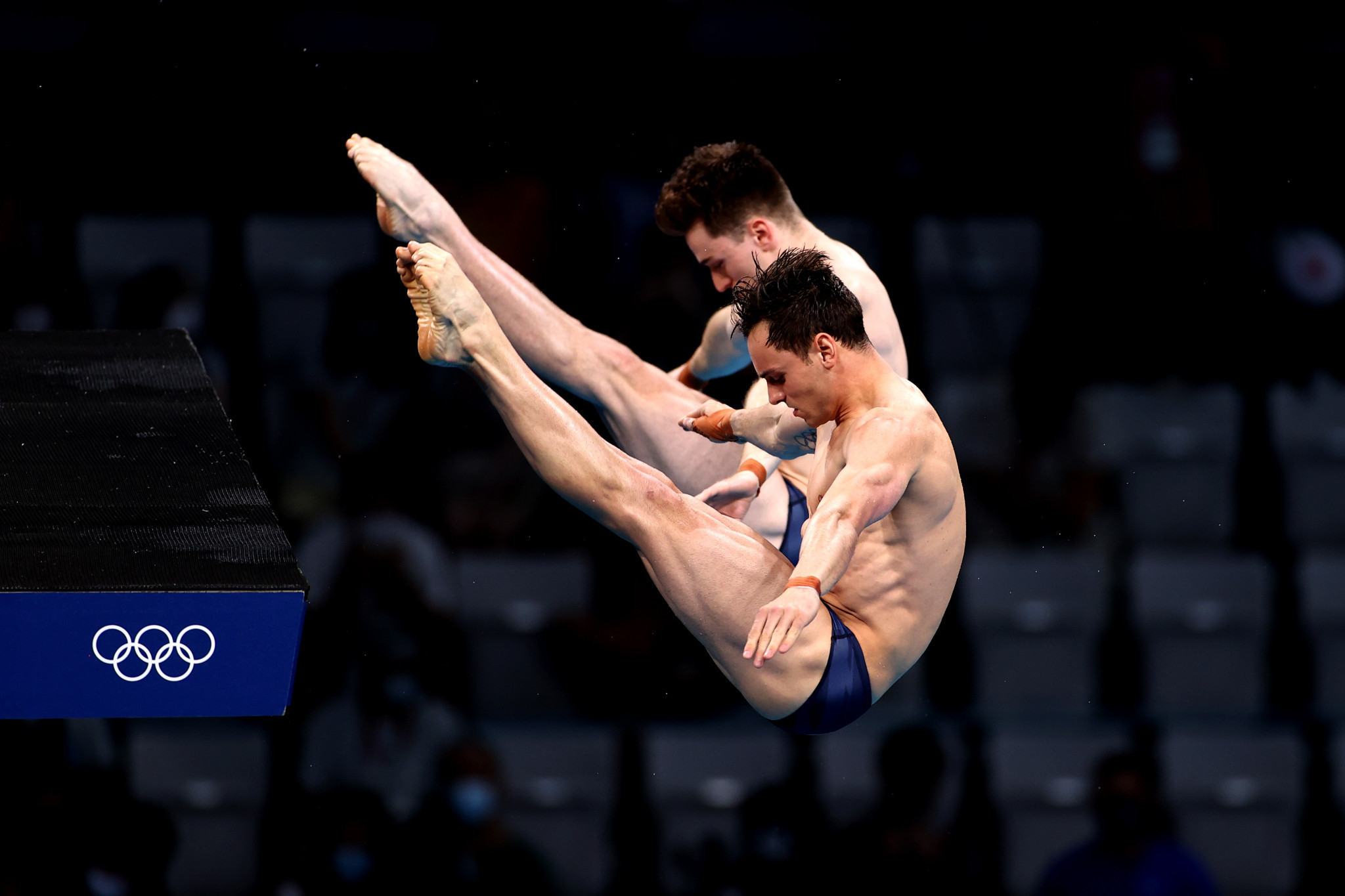 Also at Tokyo Aquatics Centre, Tom Daley and Matty Lee of Britain took advantage of a rare Chinese error to win men's 10m platform synchronised gold ©Getty Images