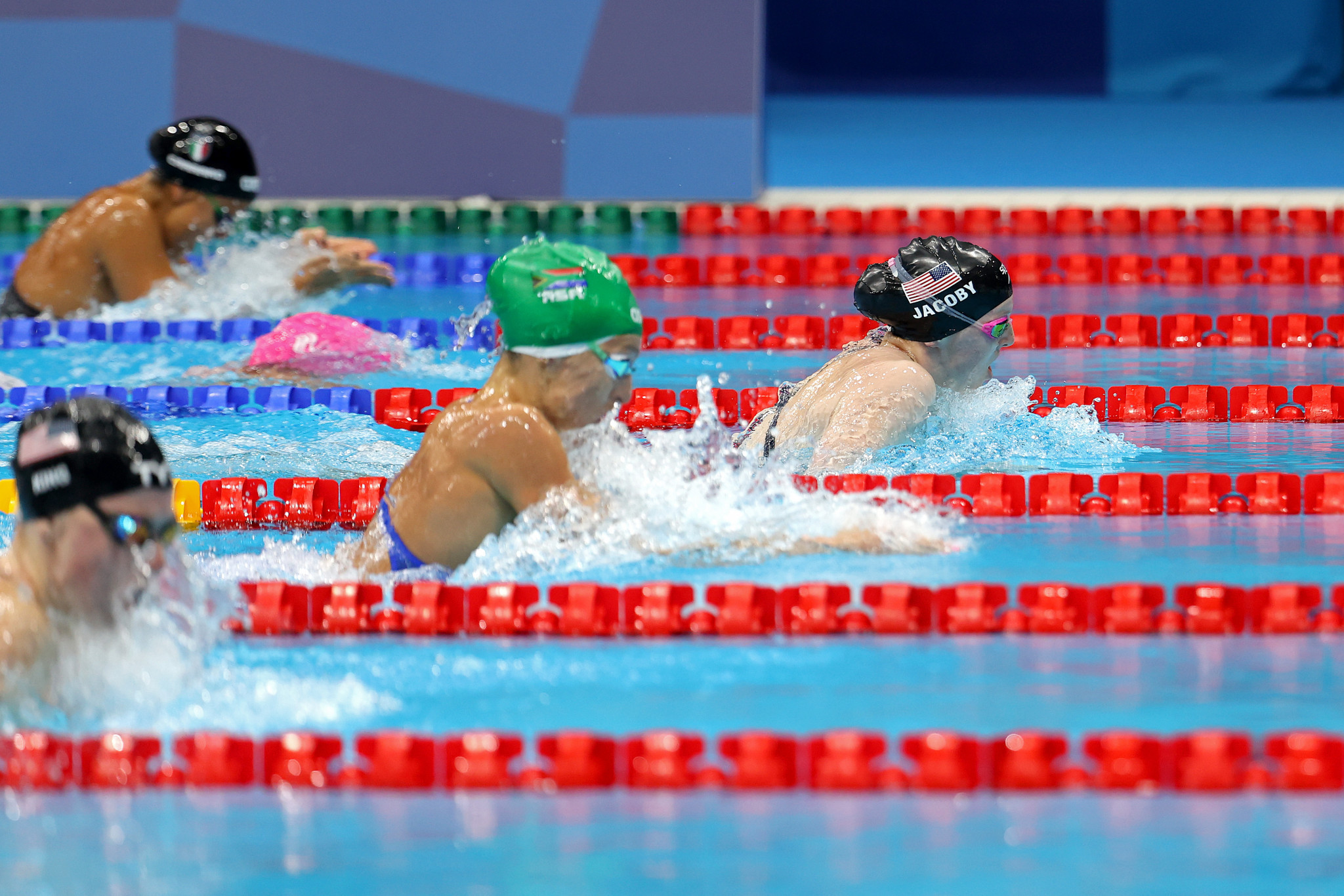 Lydia Jacoby earned a surprise gold in the women's 100m breaststroke ©Getty Images