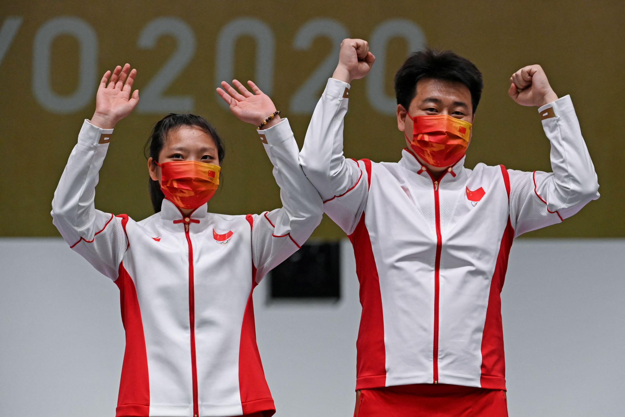 China win pair of mixed team shooting titles at Tokyo 2020