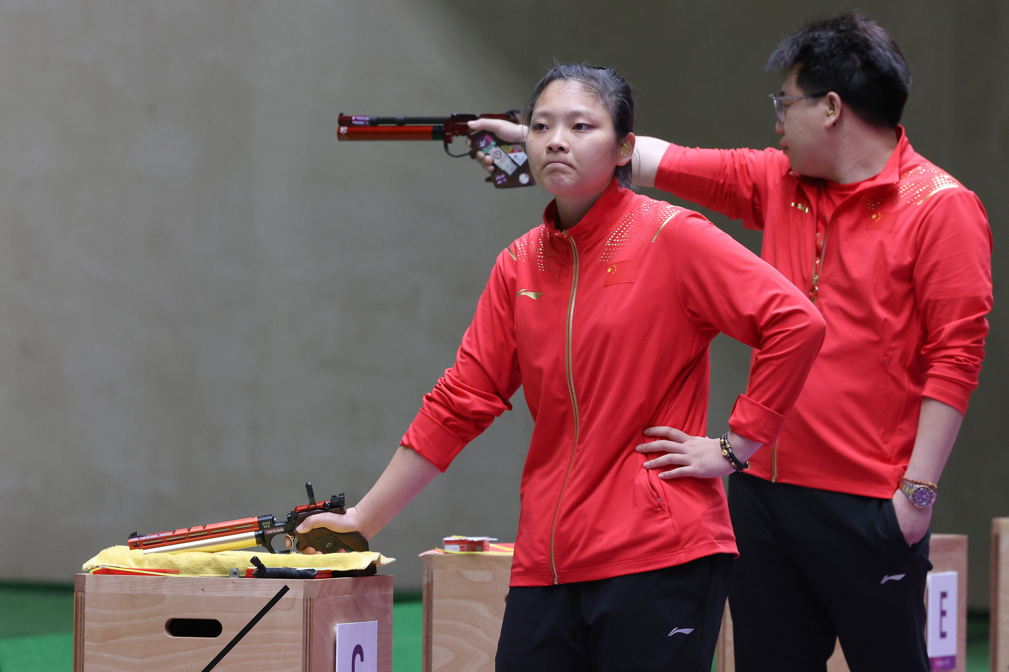 Both of the Chinese shooters added mixed team gold to individual bronze ©Getty Images