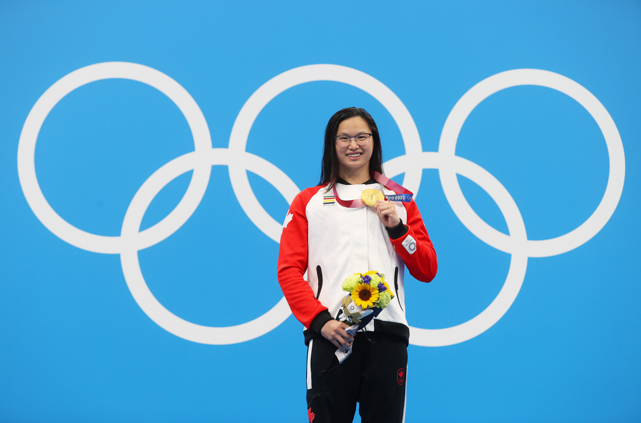 Canadian Margaret MacNeil won gold in the 100m butterfly at the Tokyo 2020 Olympic and Paralympic Games ©Getty Images