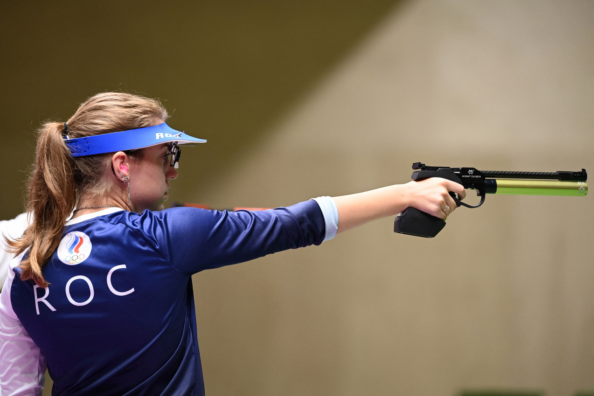 Vitalina Batsarashkina came third in qualifying before winning the gold medal in the 10m women's pistol at Tokyo 2020 ©Getty Images